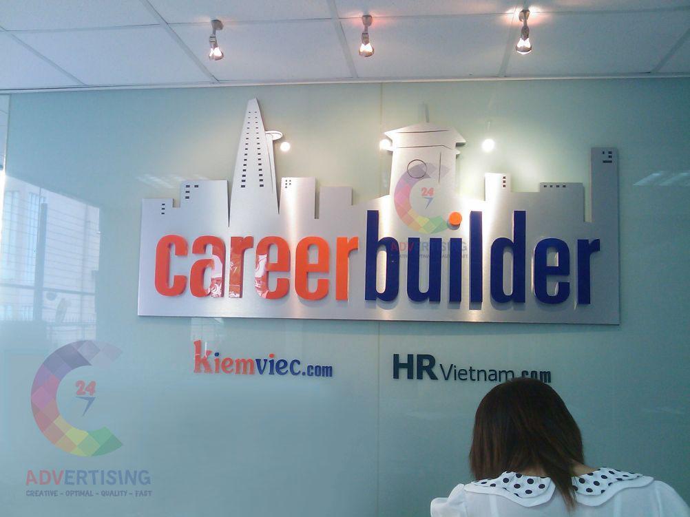 Logo văn phòng công ty nổi 3D không đèn