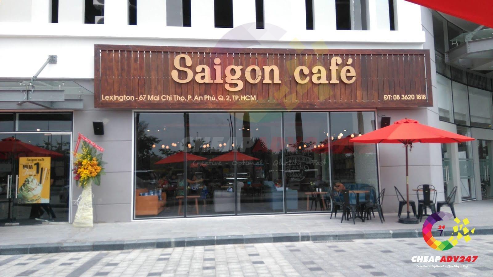 bảng hiệu quán cafe đẹp quận 2