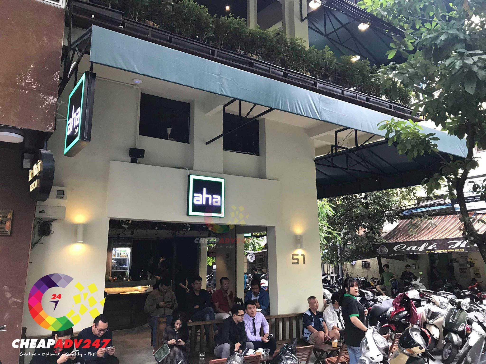 bảng hiệu quán cafe đẹp tphcm
