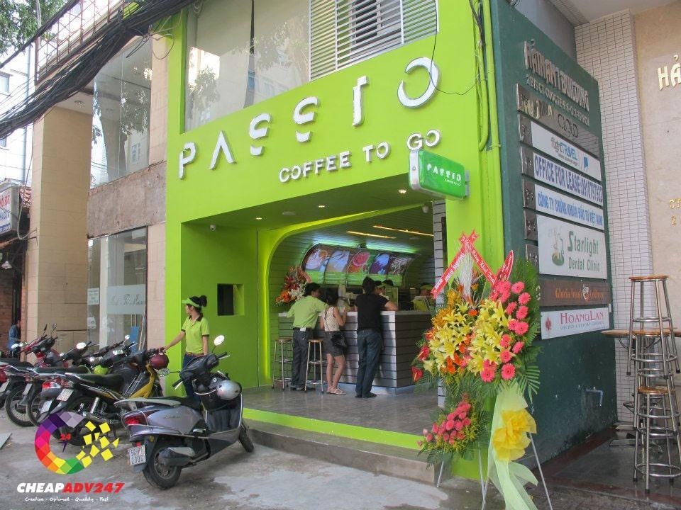 bảng hiệu quán cafe passio đẹp