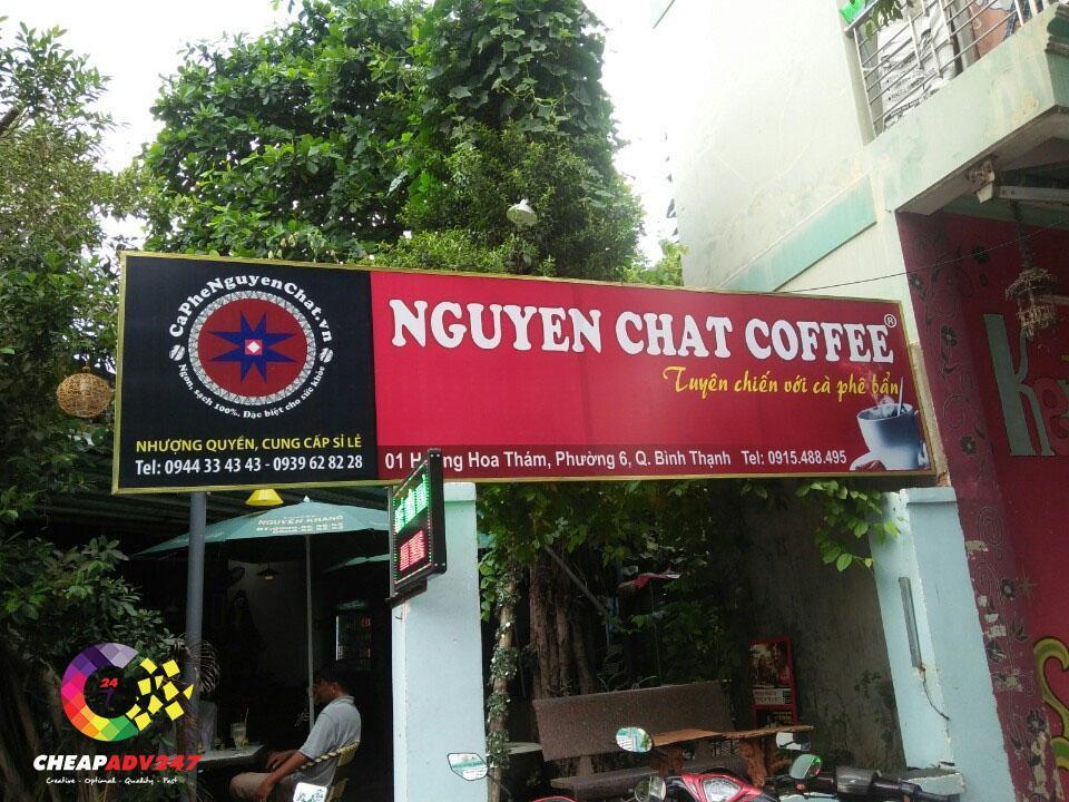 bảng hiệu quán cà phê bằng bạt hilfex