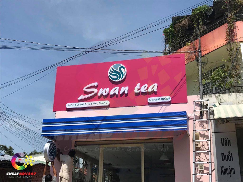 Mẫu bảng hiệu quảng cáo đẹp cho quán trà sữa cà phê