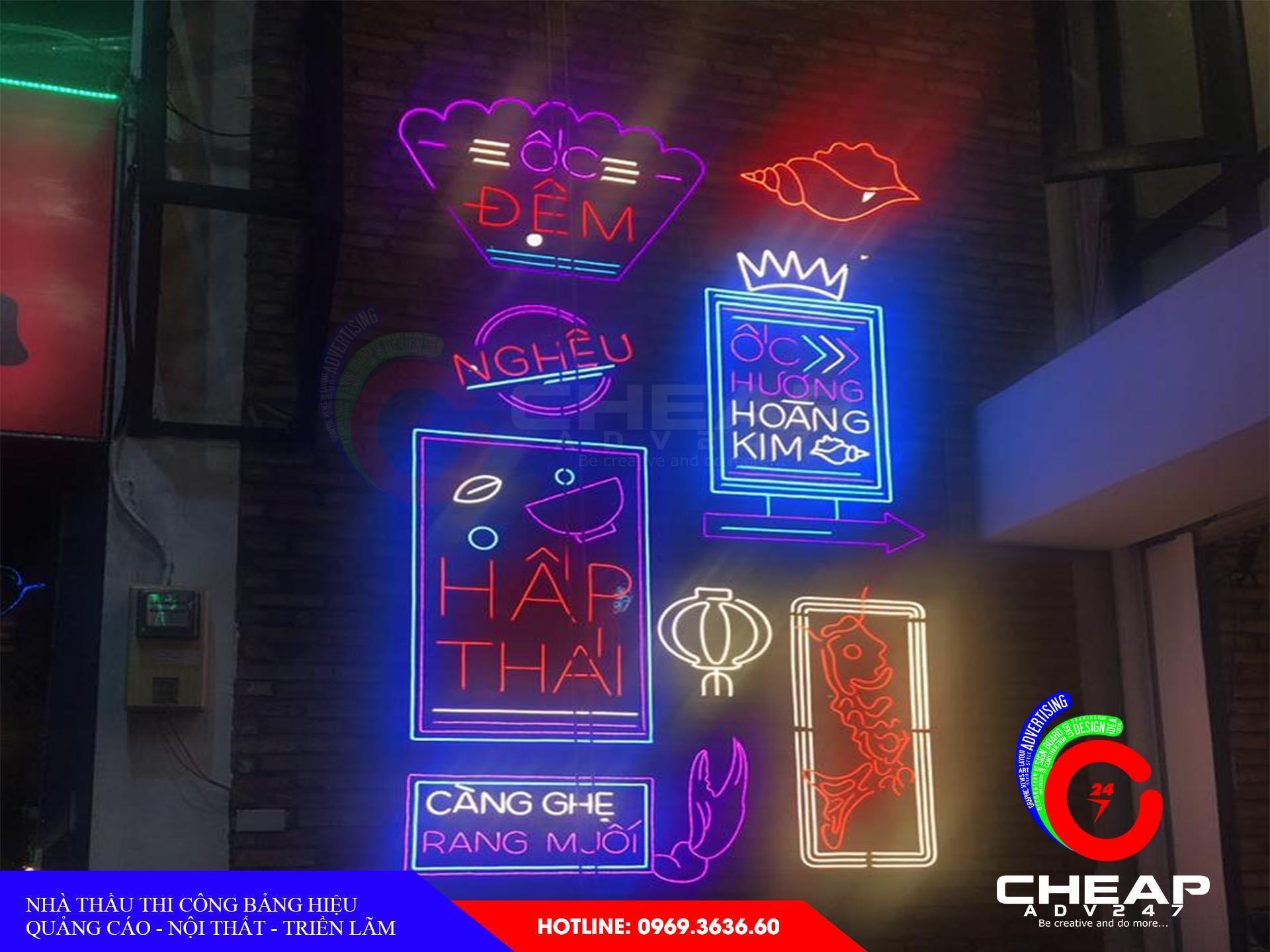 Làm bảng hiệu neon sign tại cheapadv247