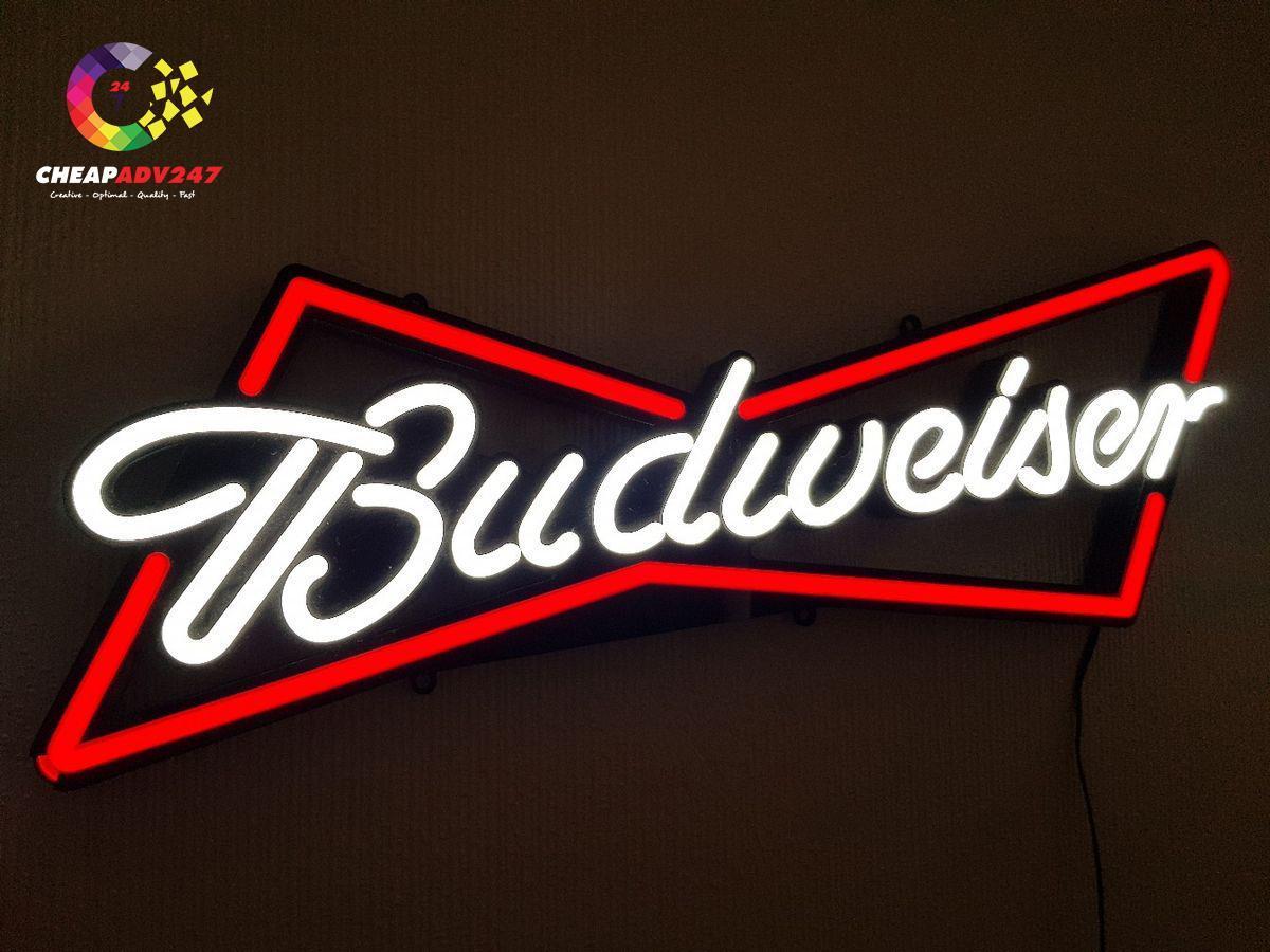 làm đèn neon sign beer budweiser