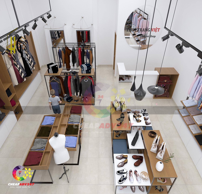 thiết kế thi công shop thời trang đẹp