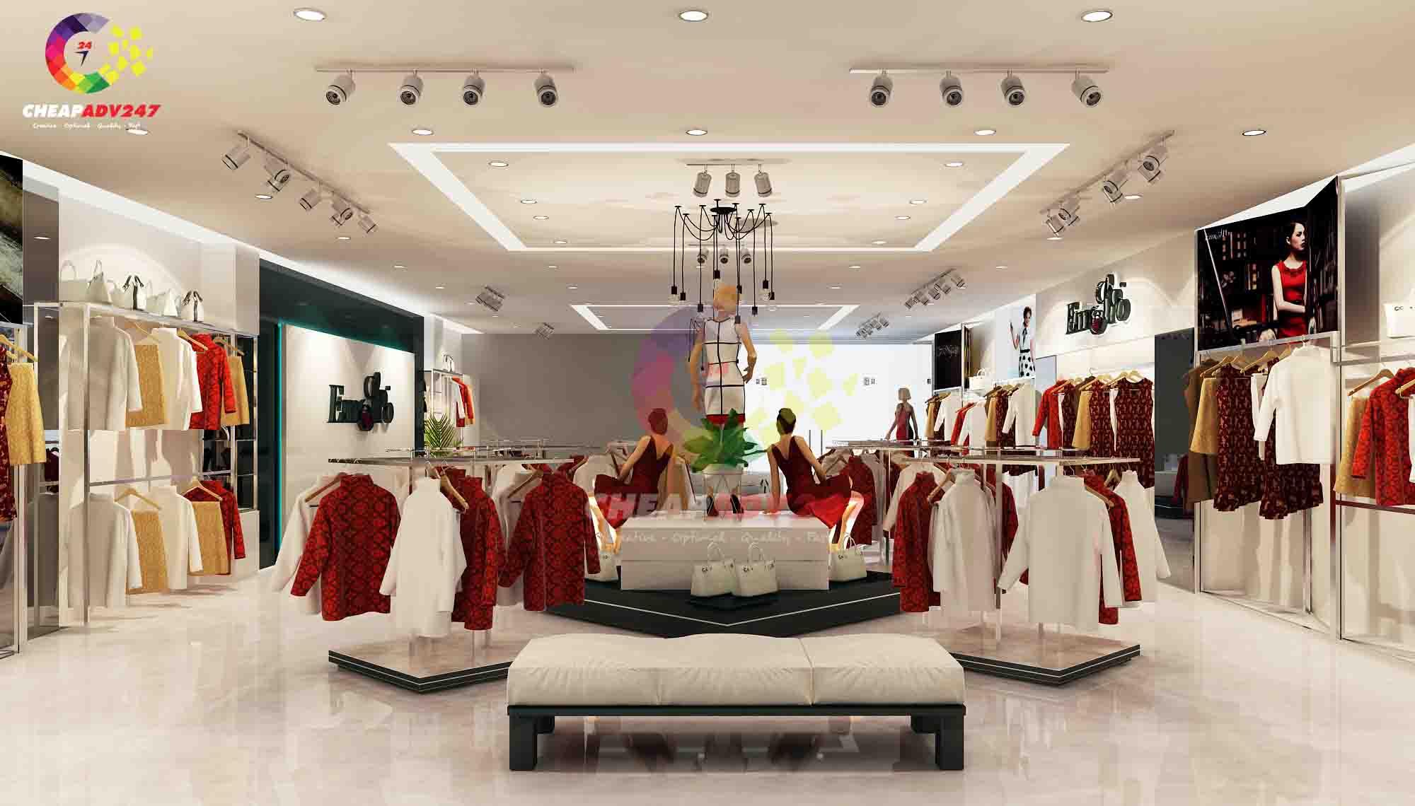 thiết kế thi công nội thất showroom thời trang