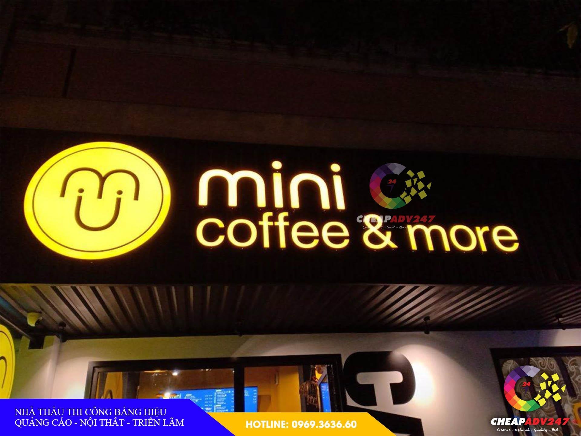 Mẫu biển hiệu quán cà phê tại cheapadv247 - ảnh 3