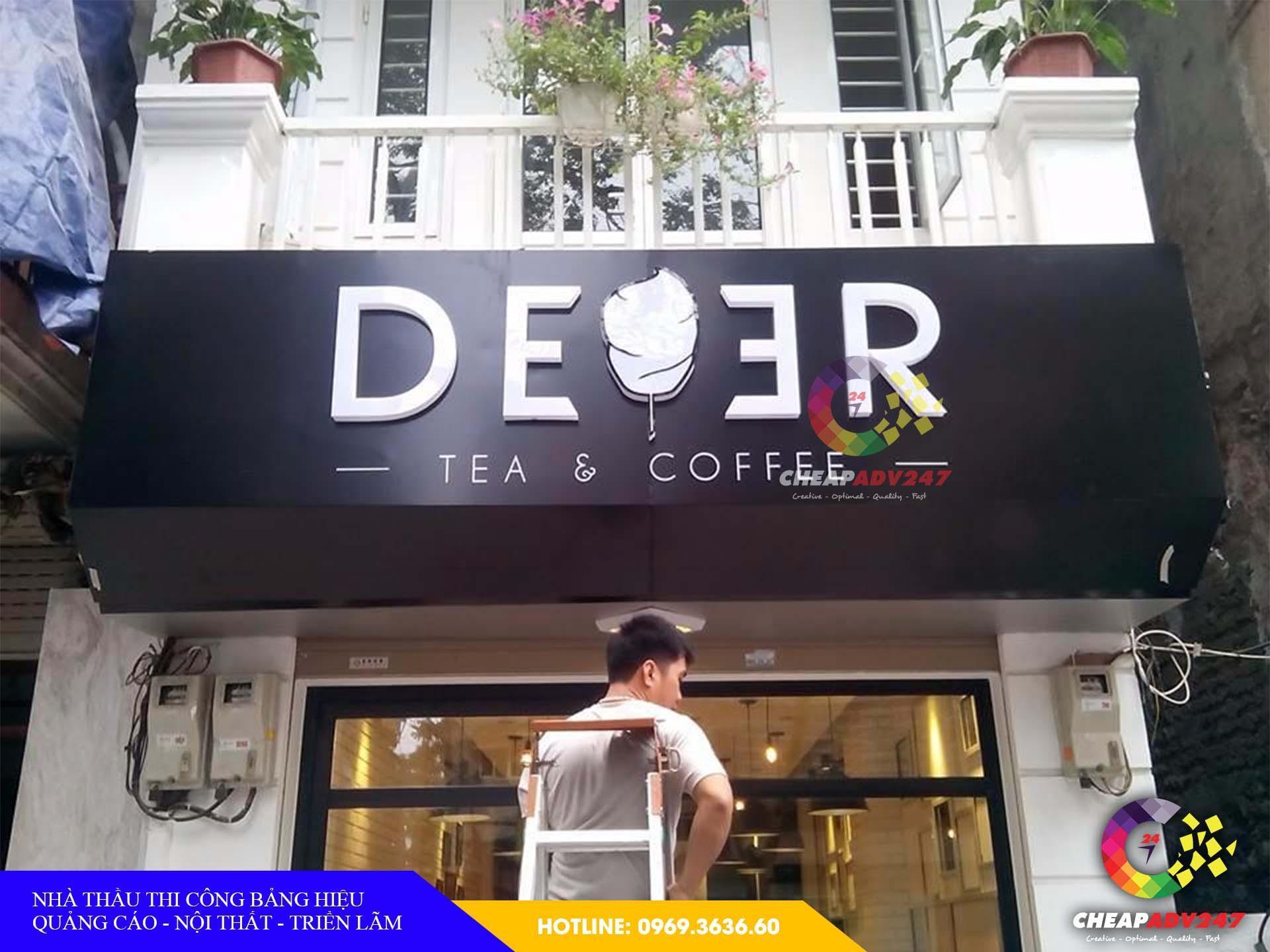 Mẫu biển hiệu quán cà phê tại cheapadv247 - ảnh 1