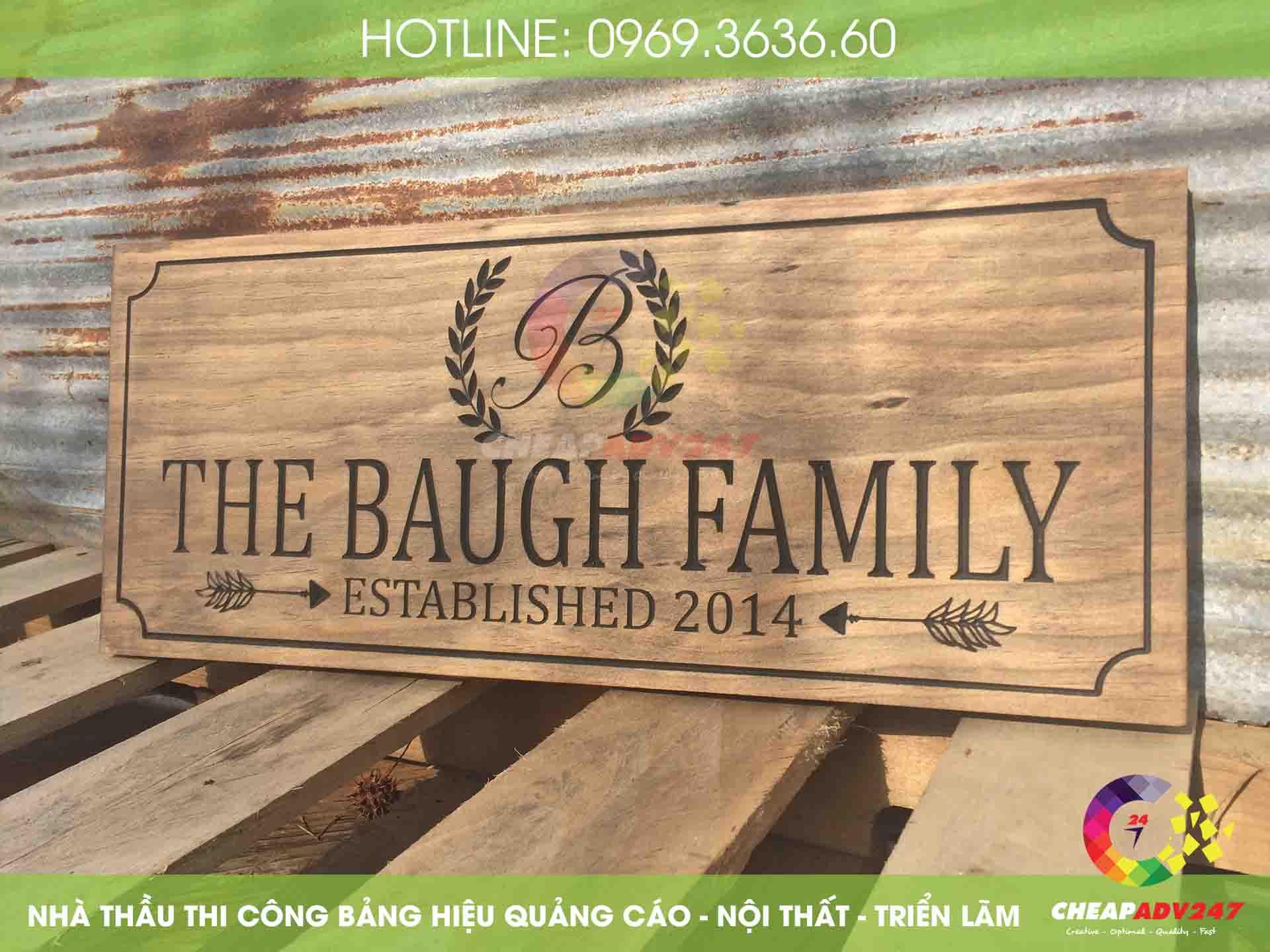ảnh bảng hiệu chữ gỗ tại cheapadv247