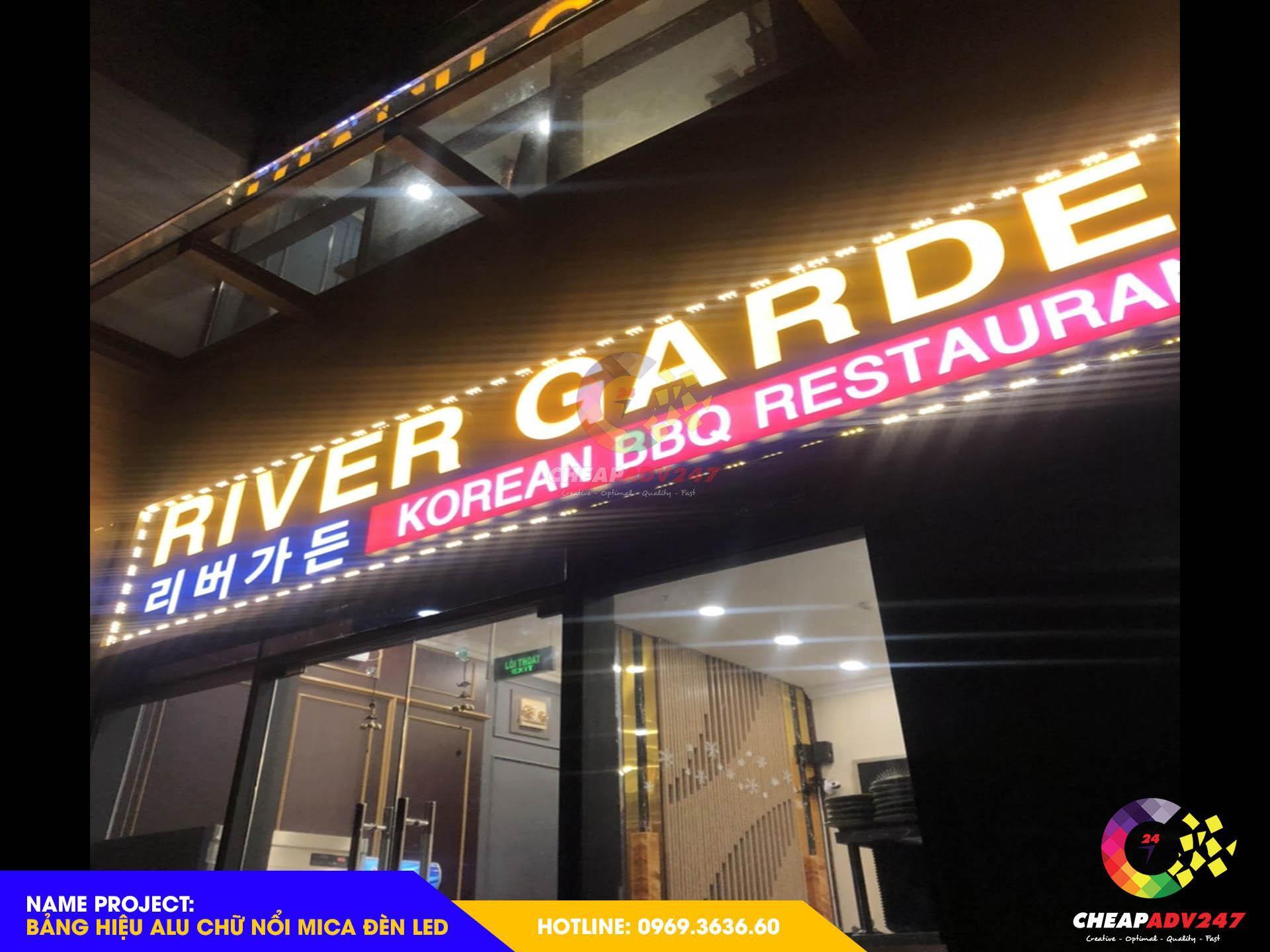 ảnh bảng hiệu alu cổ điển nhà hàng tại Cheapadv247