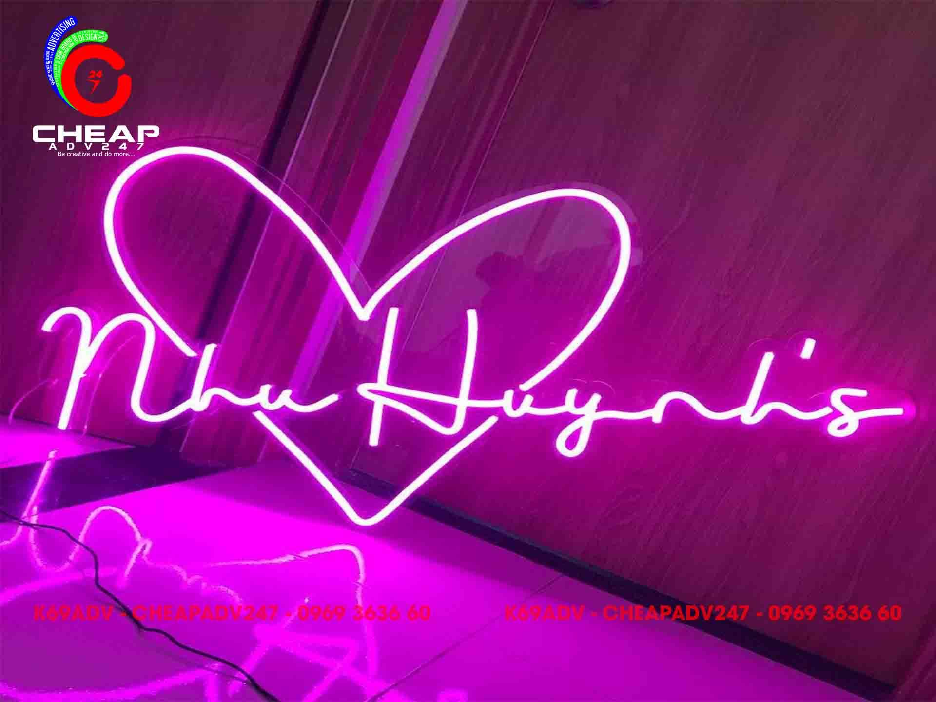 Cheapadv247 chuyên làm đèn Neon Sign giá rẻ