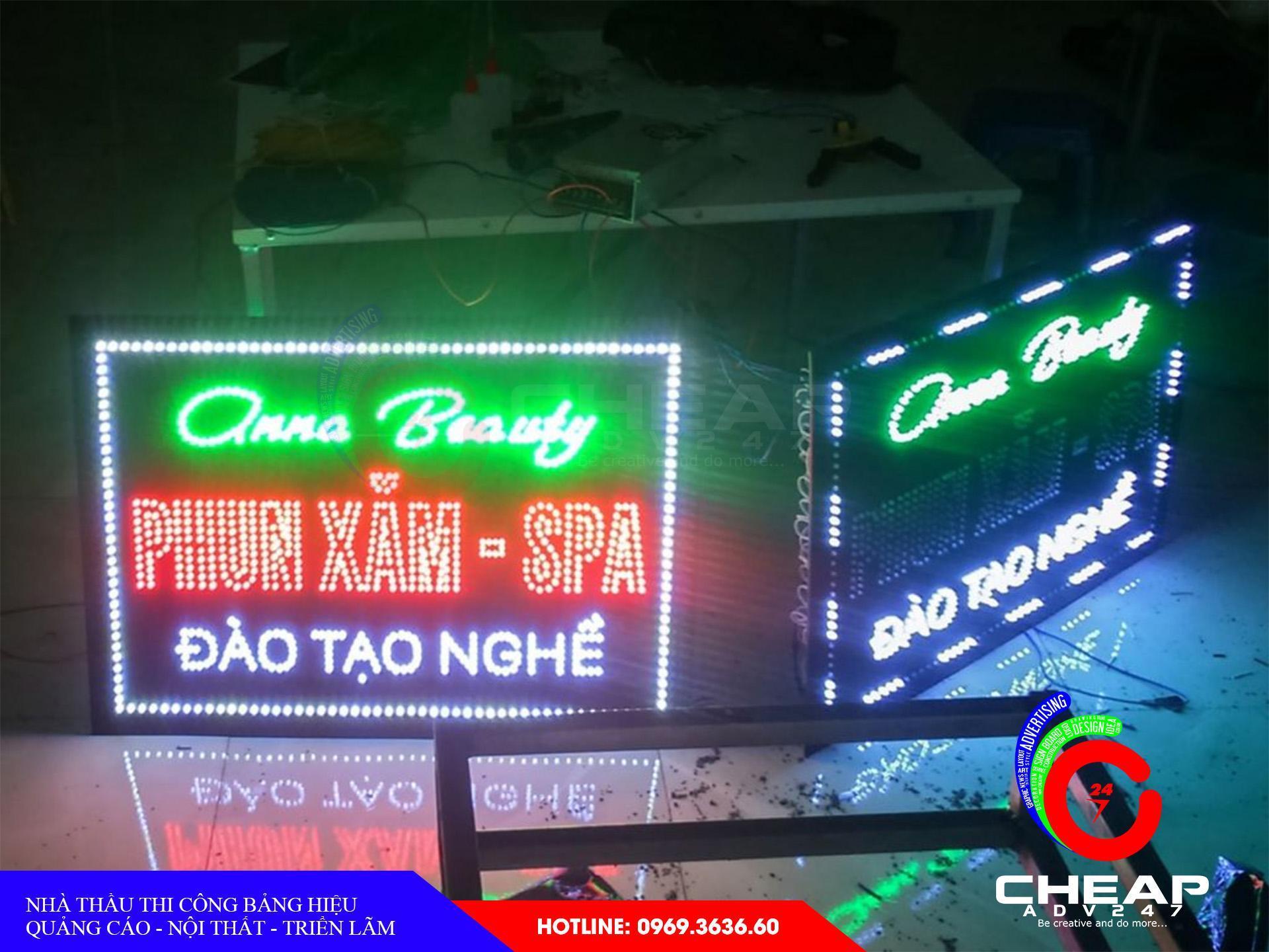 Mẫu bảng hiệu đèn led điện tử - ma trậntại cheapadv247