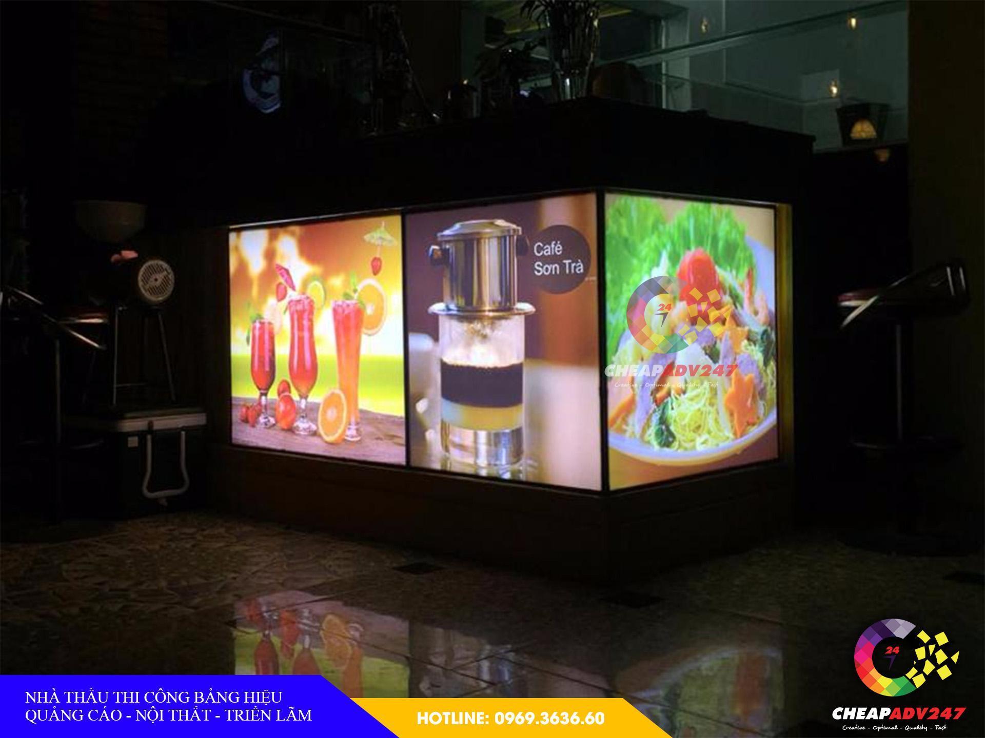 Làm Bảng hiệu hộp đèn quán cafe tại cheapadv247 - ảnh 3