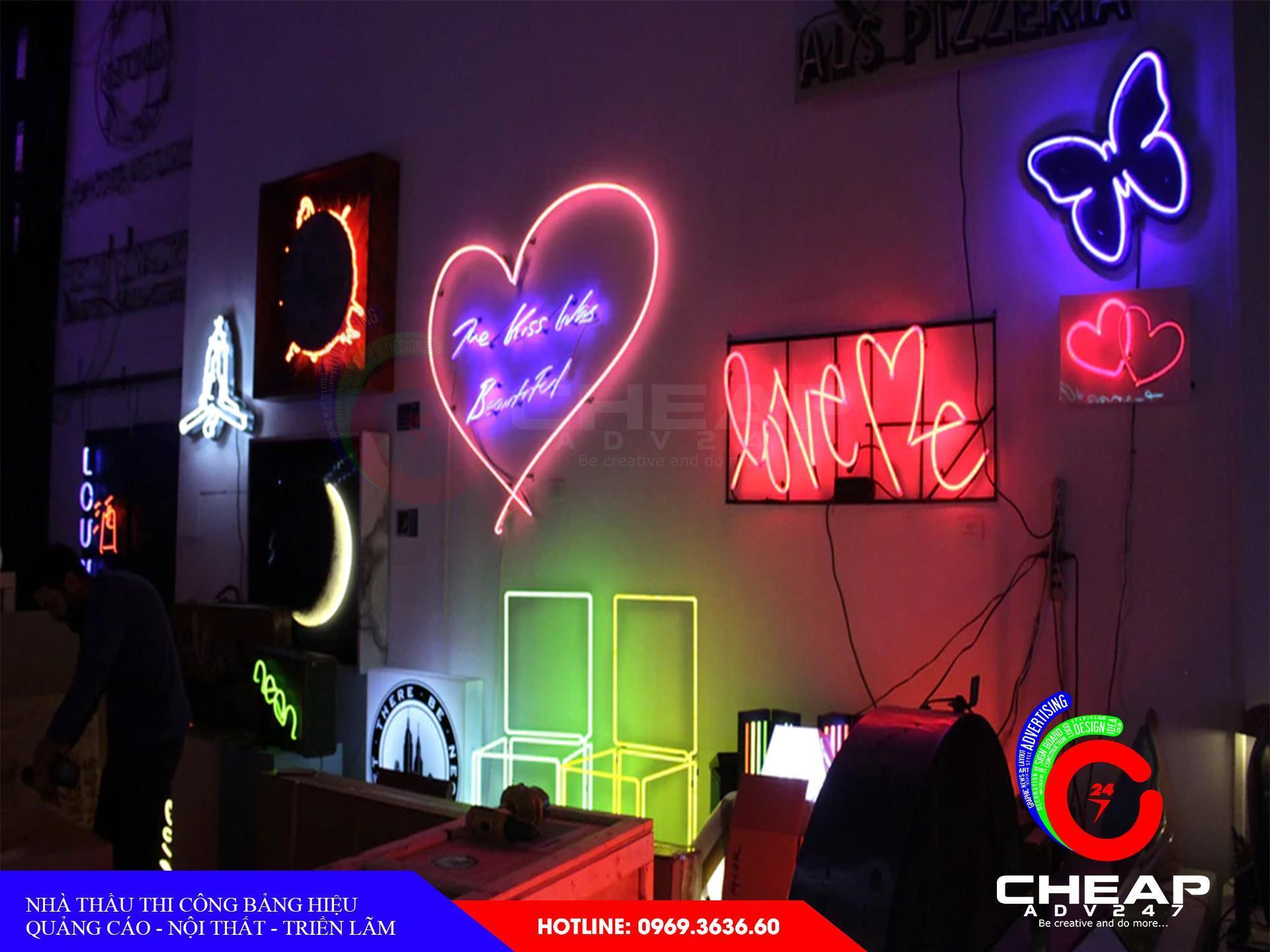 Làm bảng hiệu neon sign tại cheapadv247 - ảnh 2