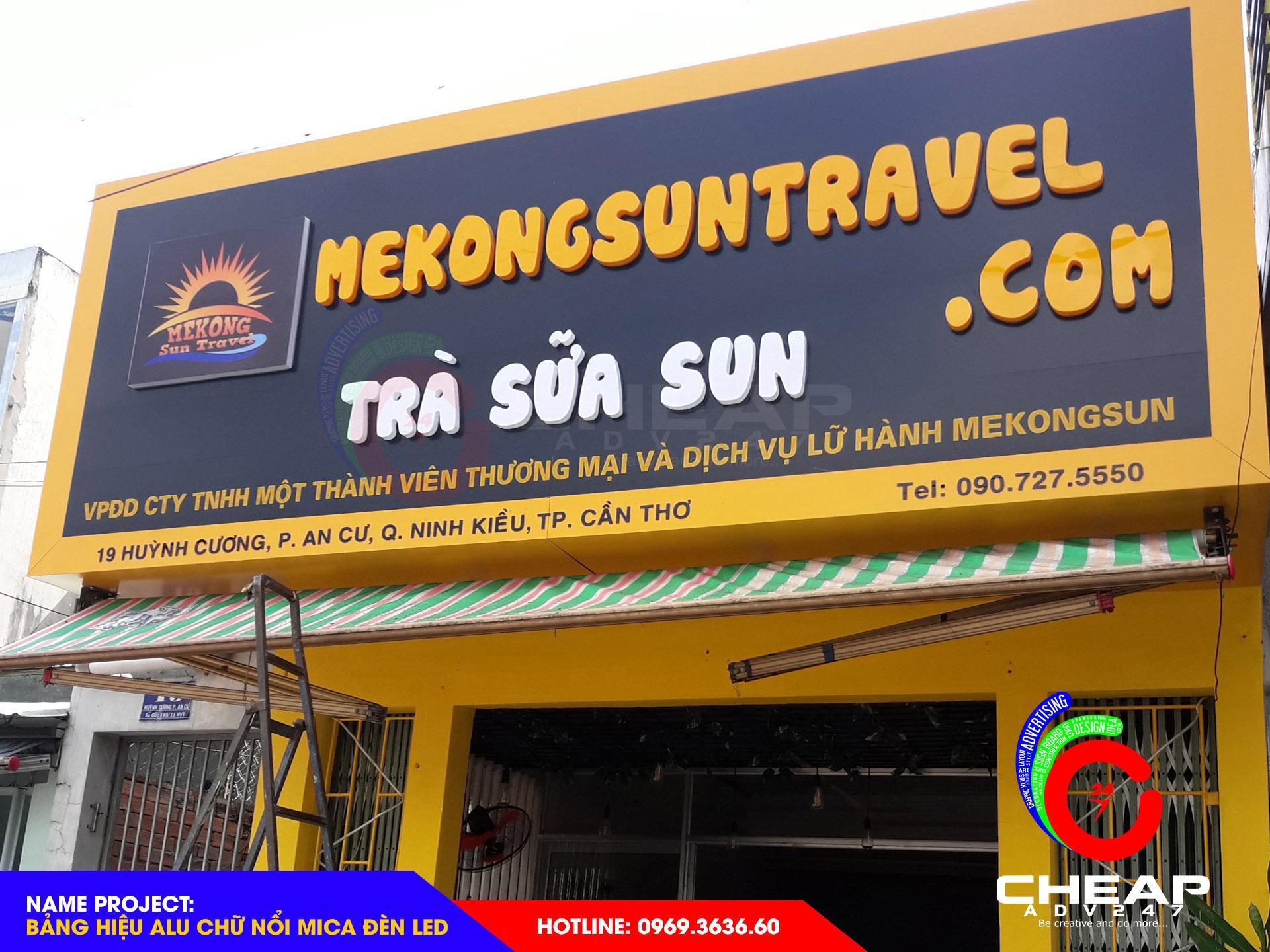 Báo giá làm bảng hiệu Chữ Nổi, Chữ hộp, Logo, Trang trí bằng Mica tại cheapdv247