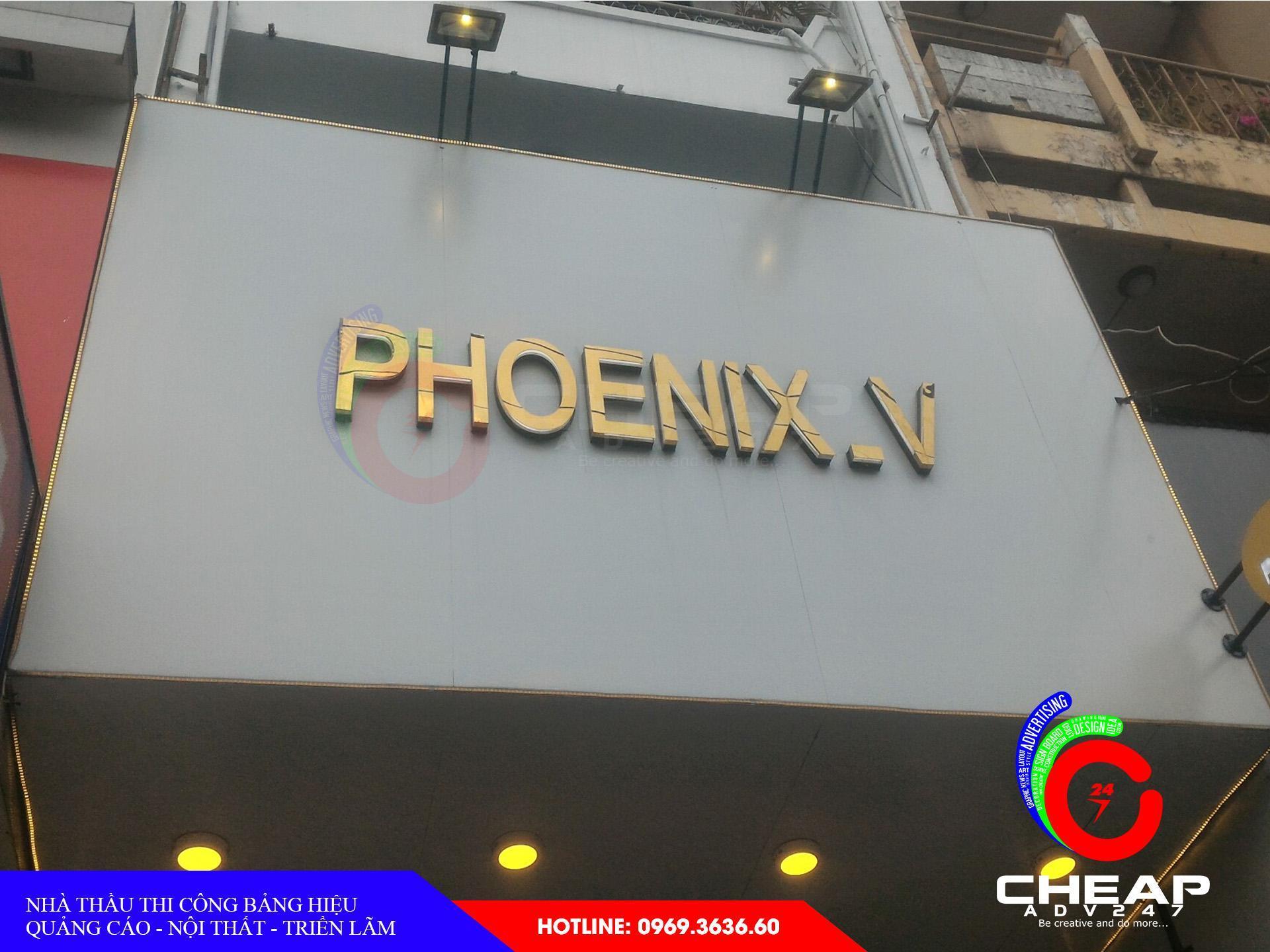 Làm bảng hiệu tại quận phú nhuận bằng chữ nổi mica, chữ nổi inox có đèn