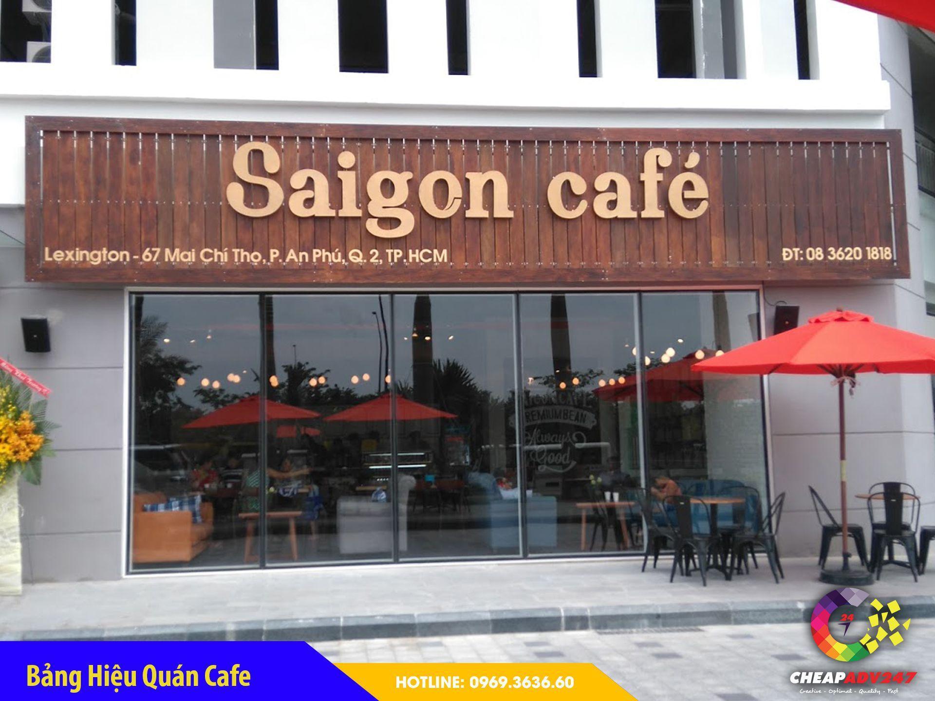 mẫu biển hiệu quán cà phê đẹp nhất tại cheapadv247