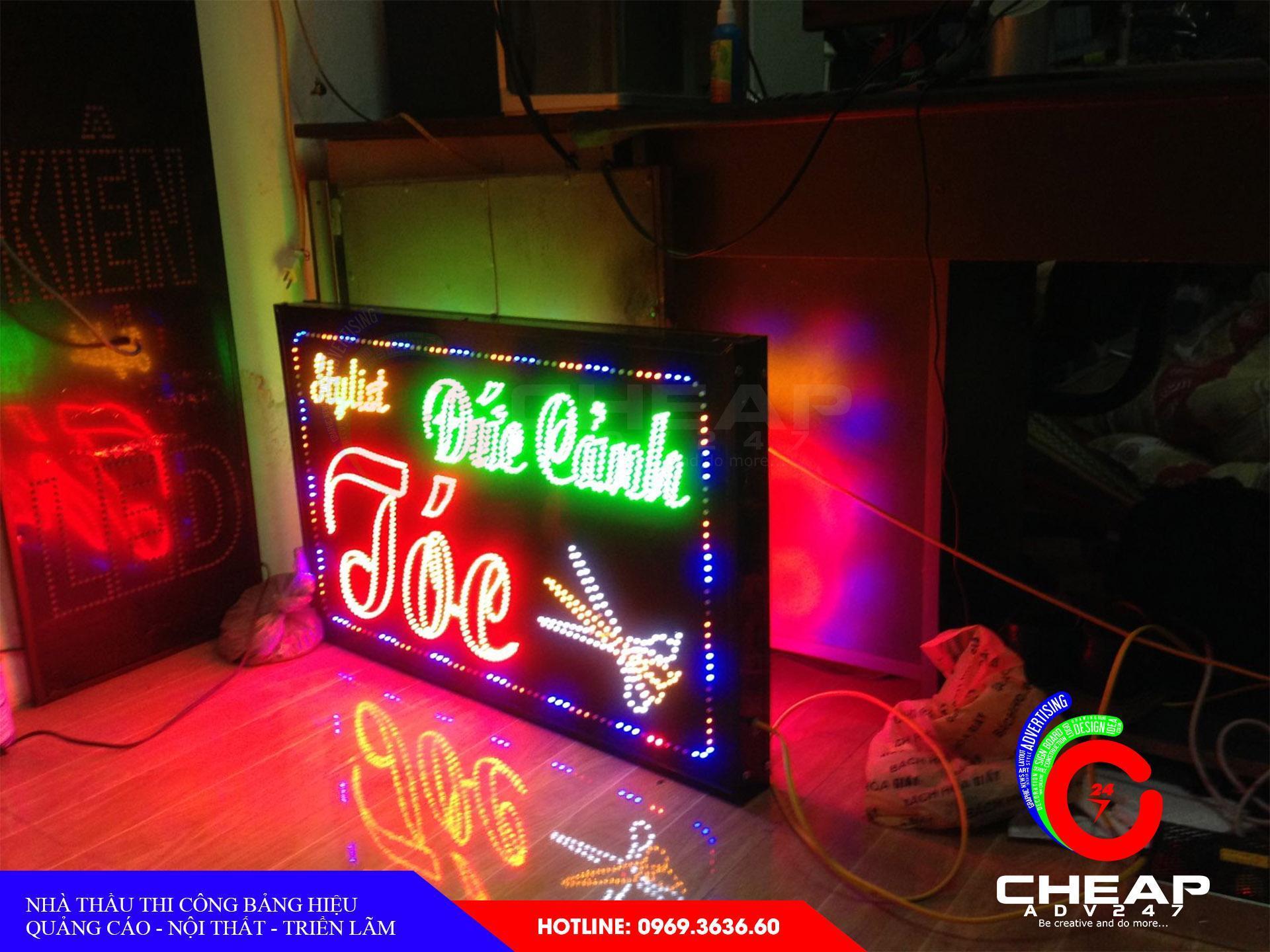 Ảnh báo giá làm bảng hiệu hộp đèn chất liệu Led tại cheapadv247