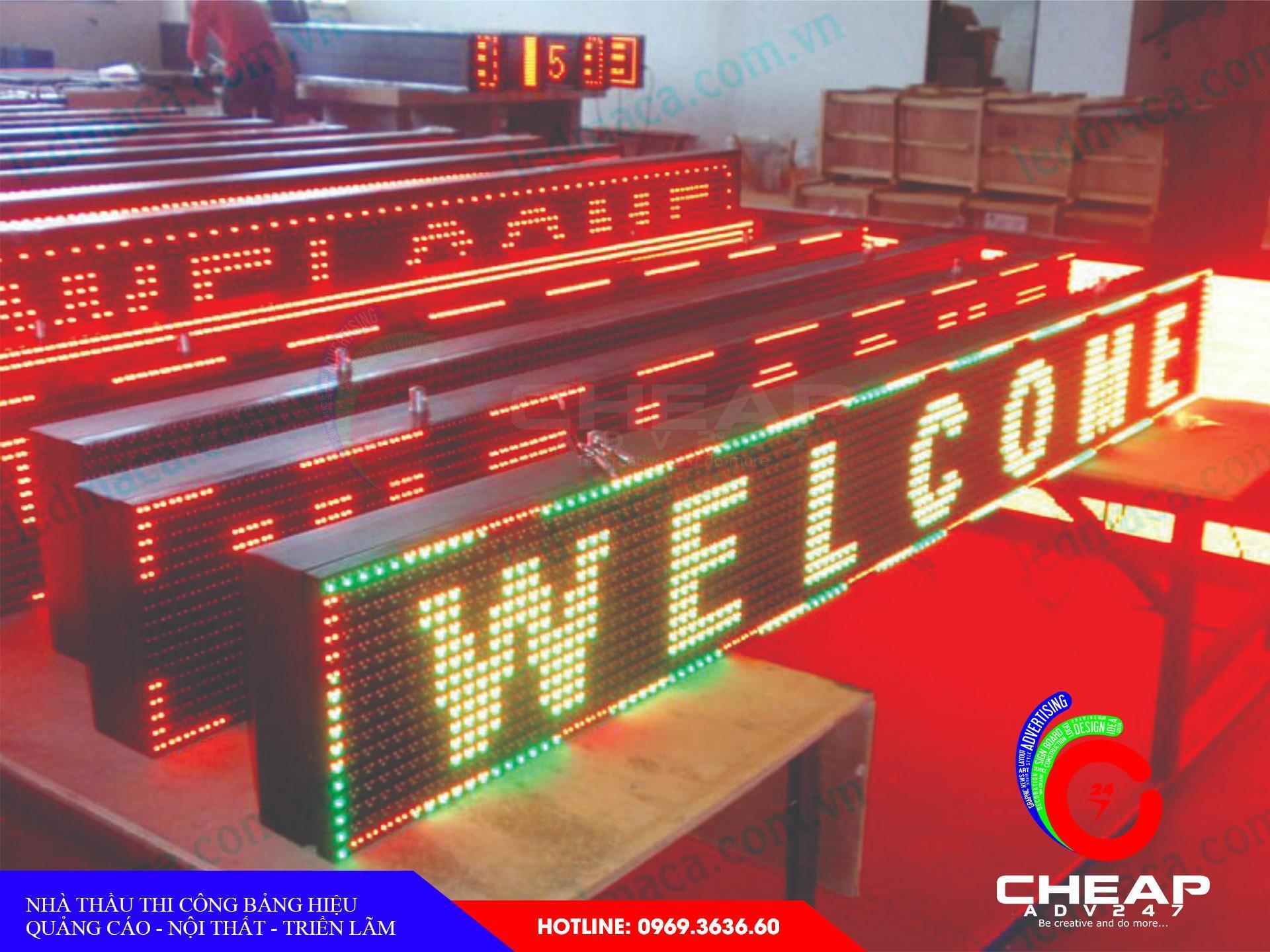 Làm biển hiệu quảng cáo đèn Led, Led ma trận tại cheapadv247