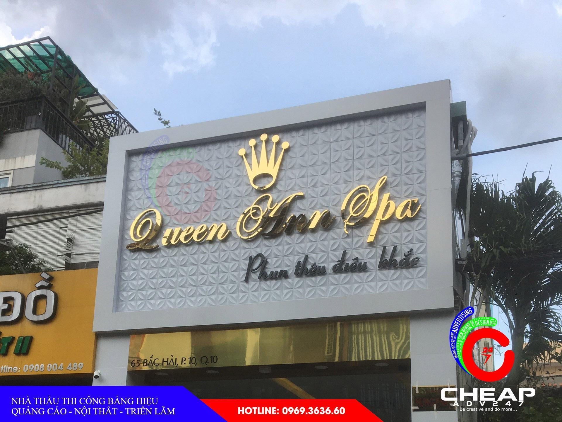 Ảnh mẫu biển quảng cáo spa tại cheapadv247