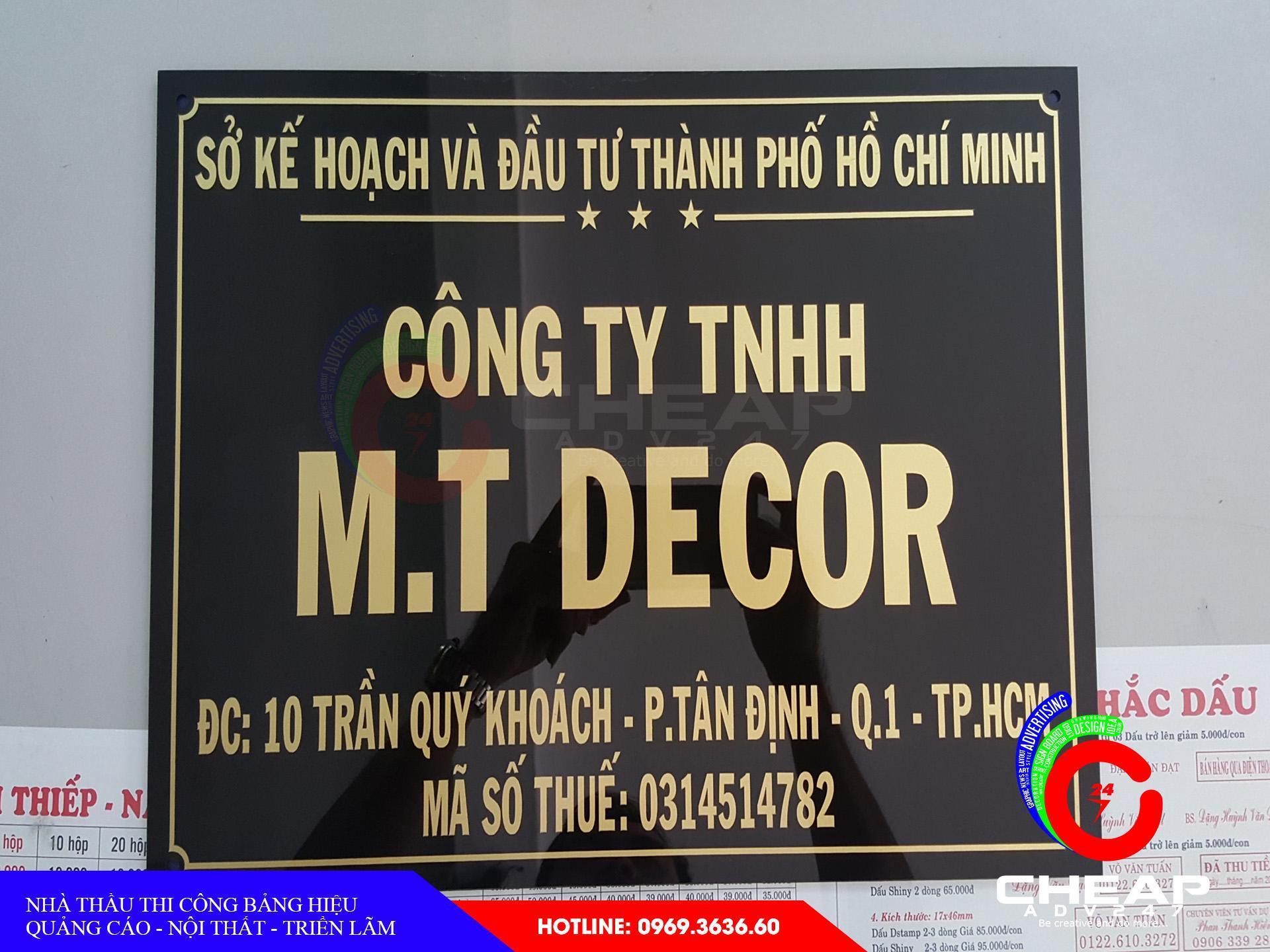 Làm biển hiệu quảng cáo Mica tại cheapadv247