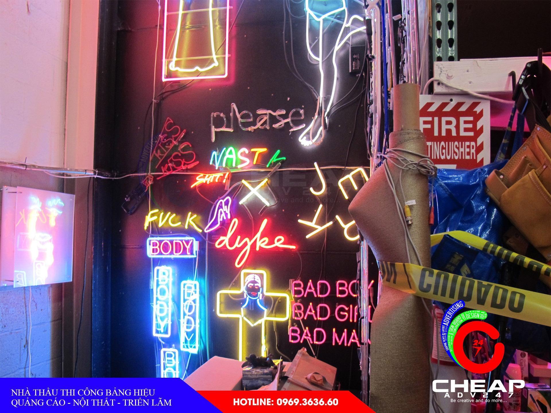 Ảnh báo giá làm bảng hiệu quảng cáoNeon Sign tại cheapadv247