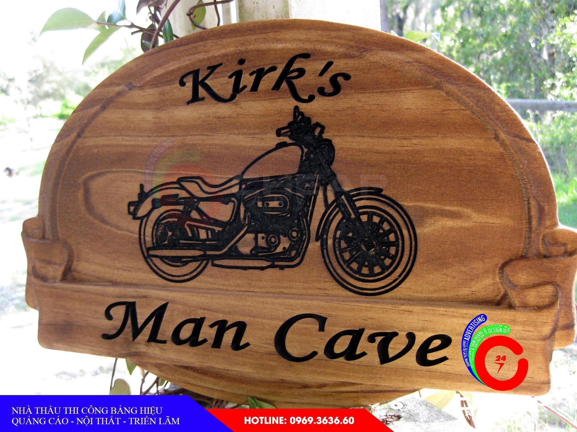 Ảnh làm bảng hiệu gỗ tại cheapadv247