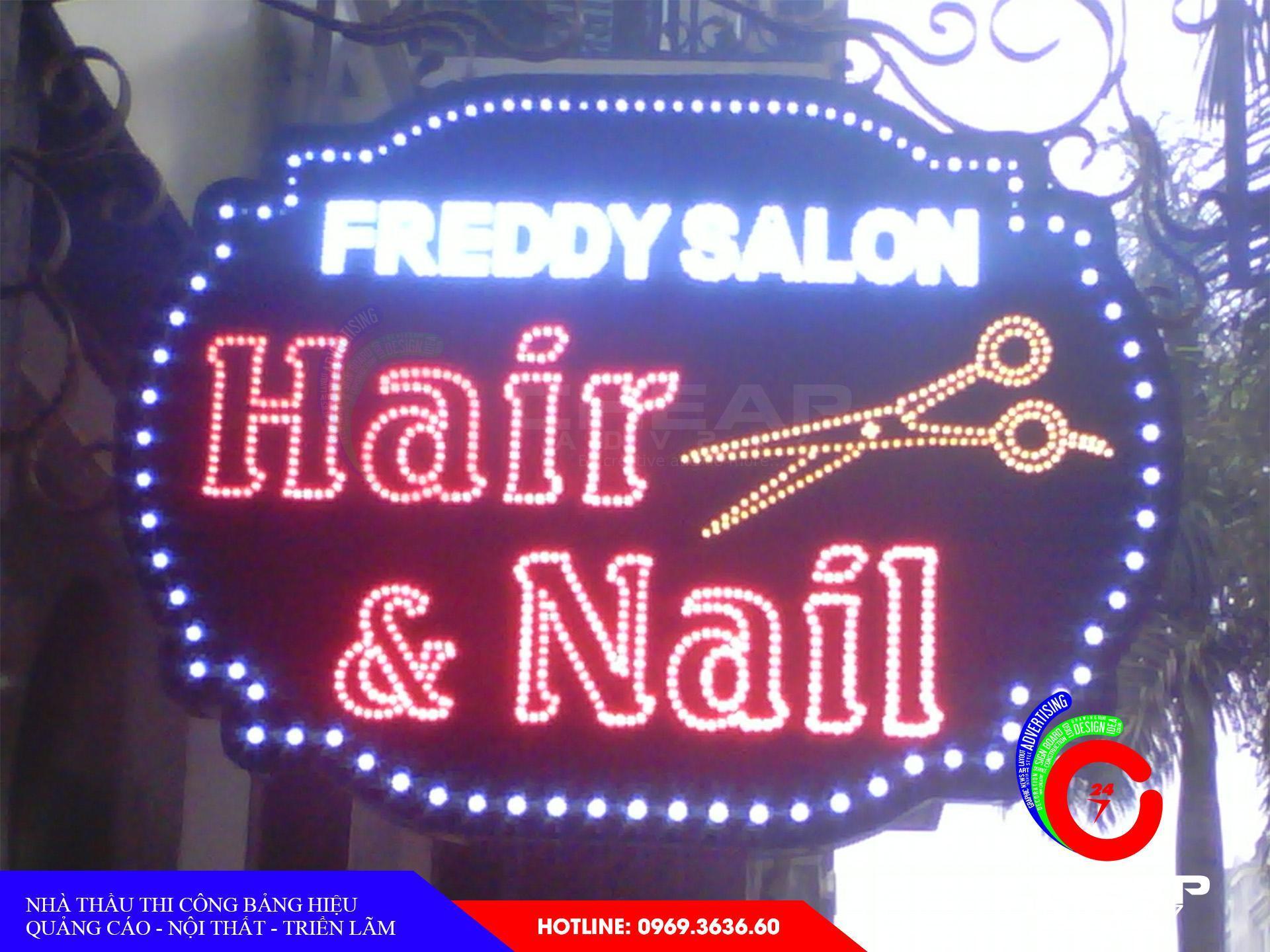 Làm bảng hiệu tóc nữ tại cheapadv247