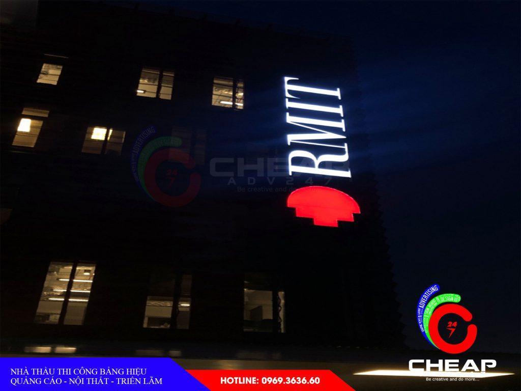 thi công làm logo tòa nhà tại cheapadv247