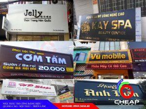 Các loại bảng hiệu quảng cáo của cheapadv247