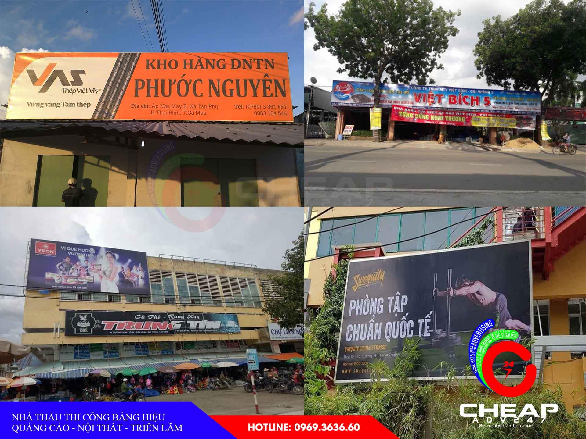 Làm bảng hiệu quảng cáo cà mau tại cheapadv247