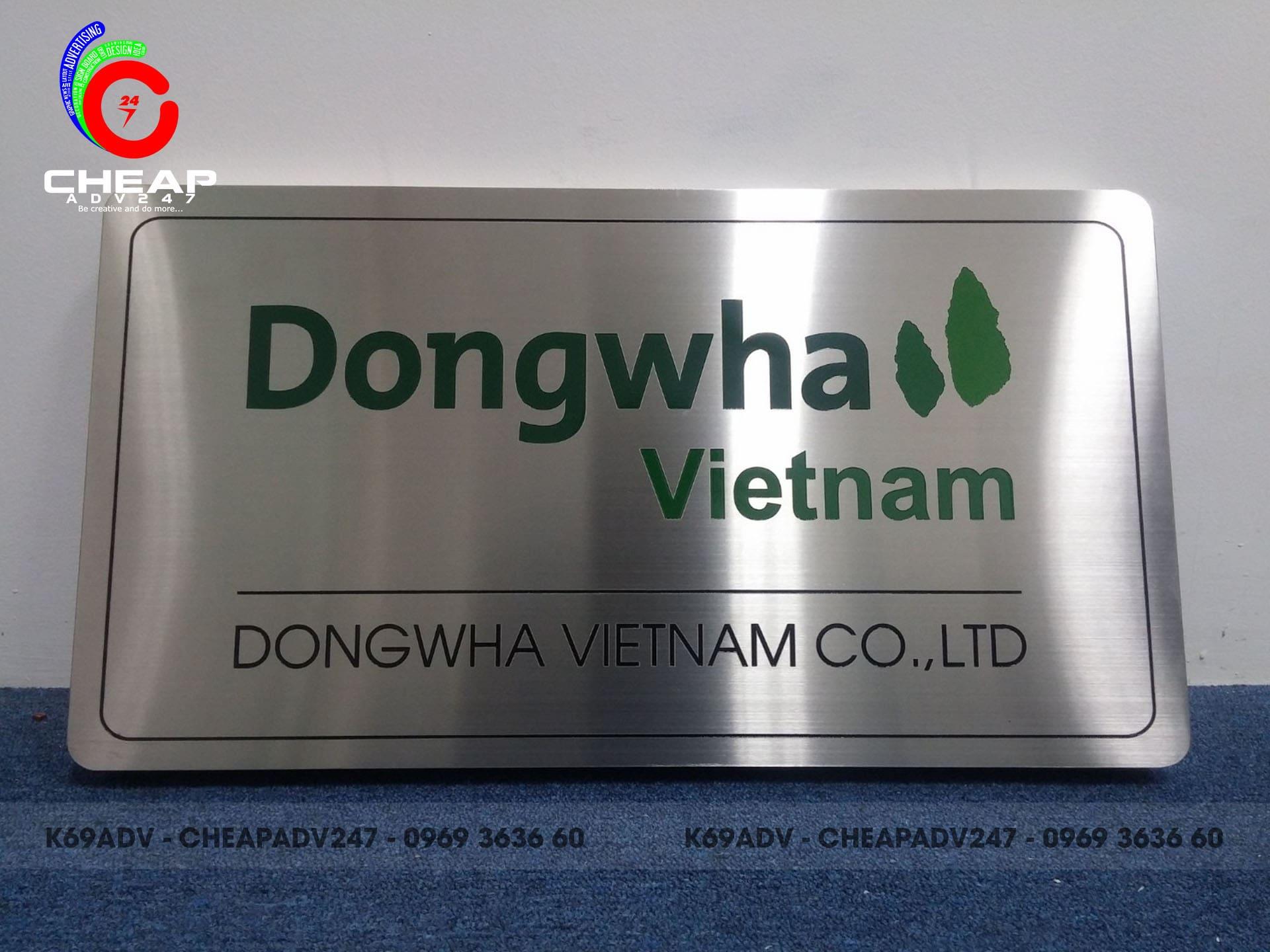 Ảnh làm bảng hiệu công ty dongwha Việt Nam