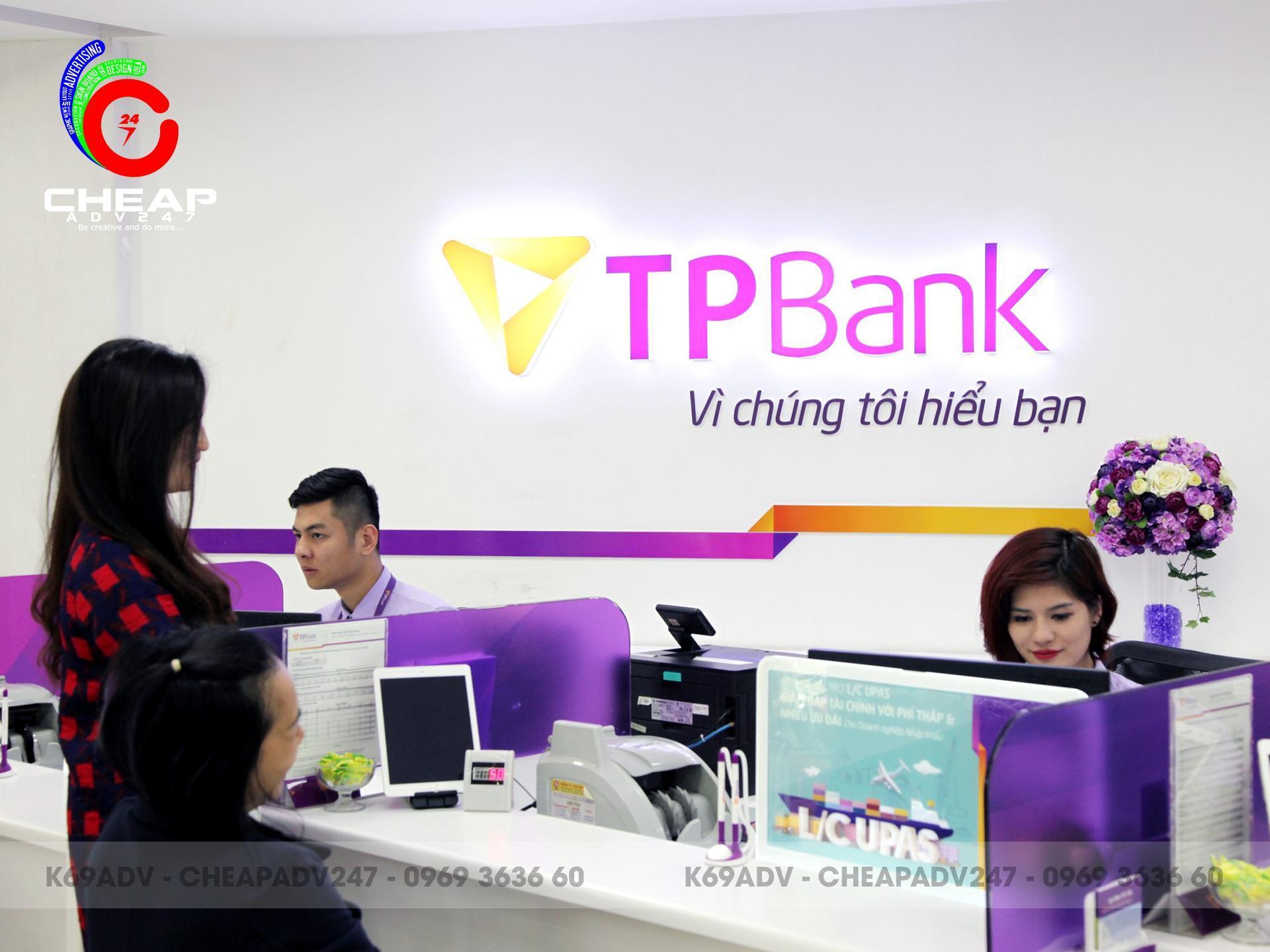 Ảnh thiết kế thi công lo go quảng cáo nhận diện thương hiệu tpbank