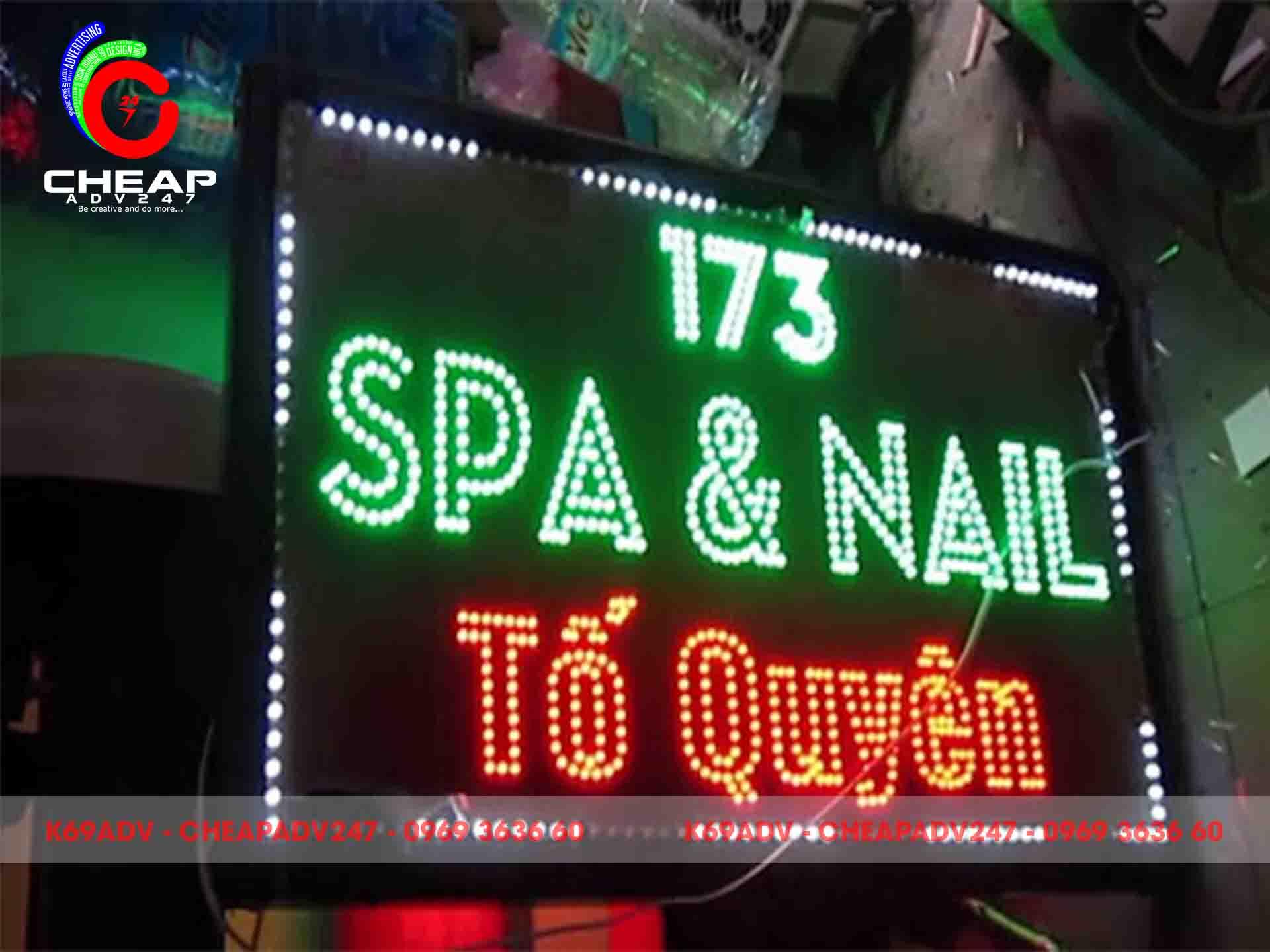 Mẫu bảng hiệu Nail do Cheapadv247 thi công