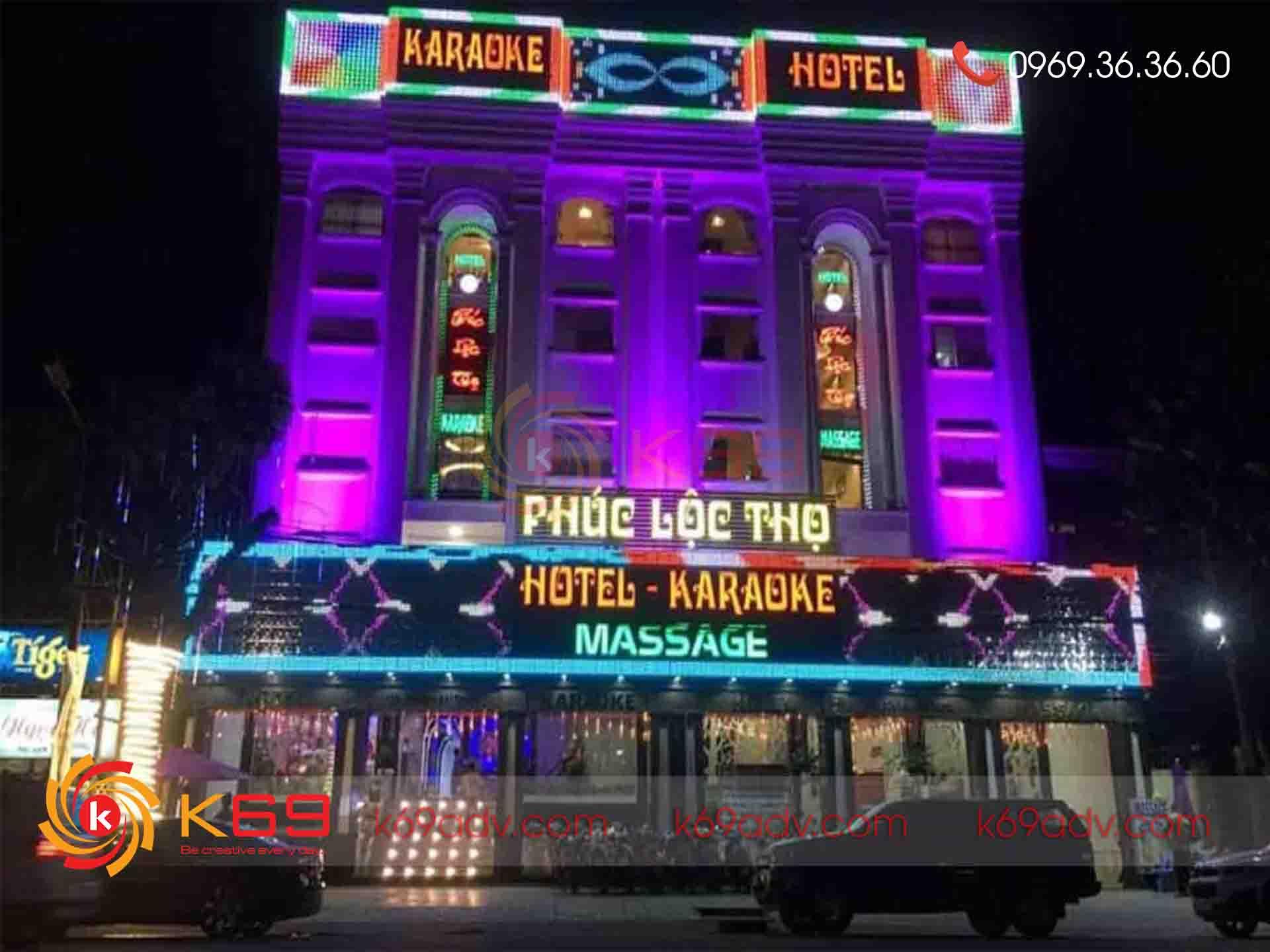Thi công biển quảng cáo đèn LED cho quán Karaoke tại Cheapadv247