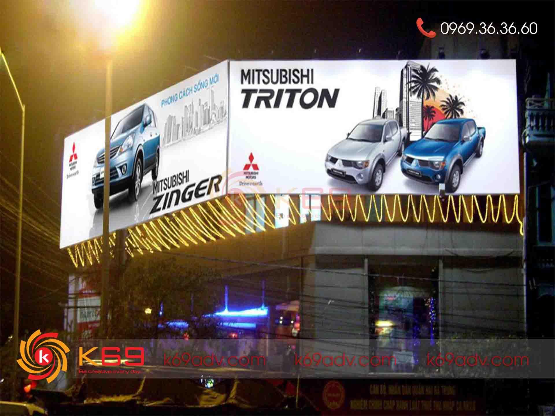 Thi công biển quảng cáo bạt Hiflex tại Cheapadv247