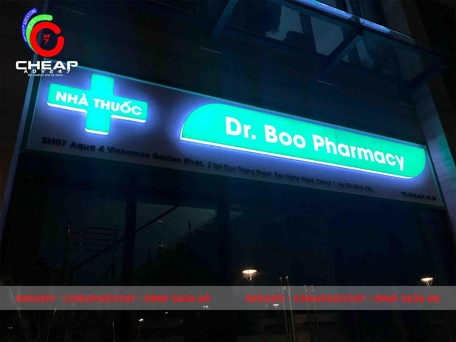 Mẫu biển hiệu nhà thuốc do Cheapadv247 thi công