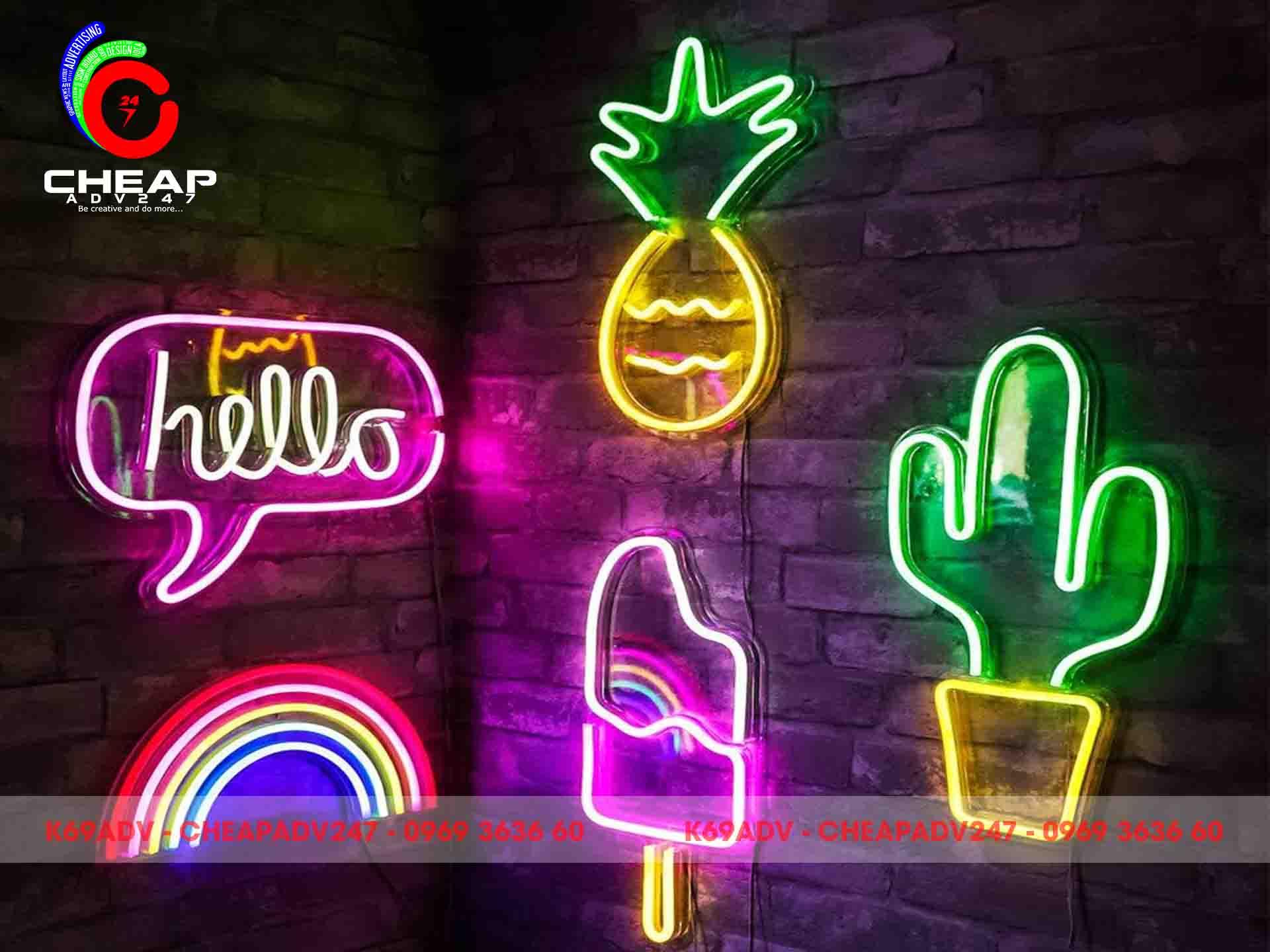Công trình thi công làm bảng đèn Neon Sign đẹp tại Cheapadv247