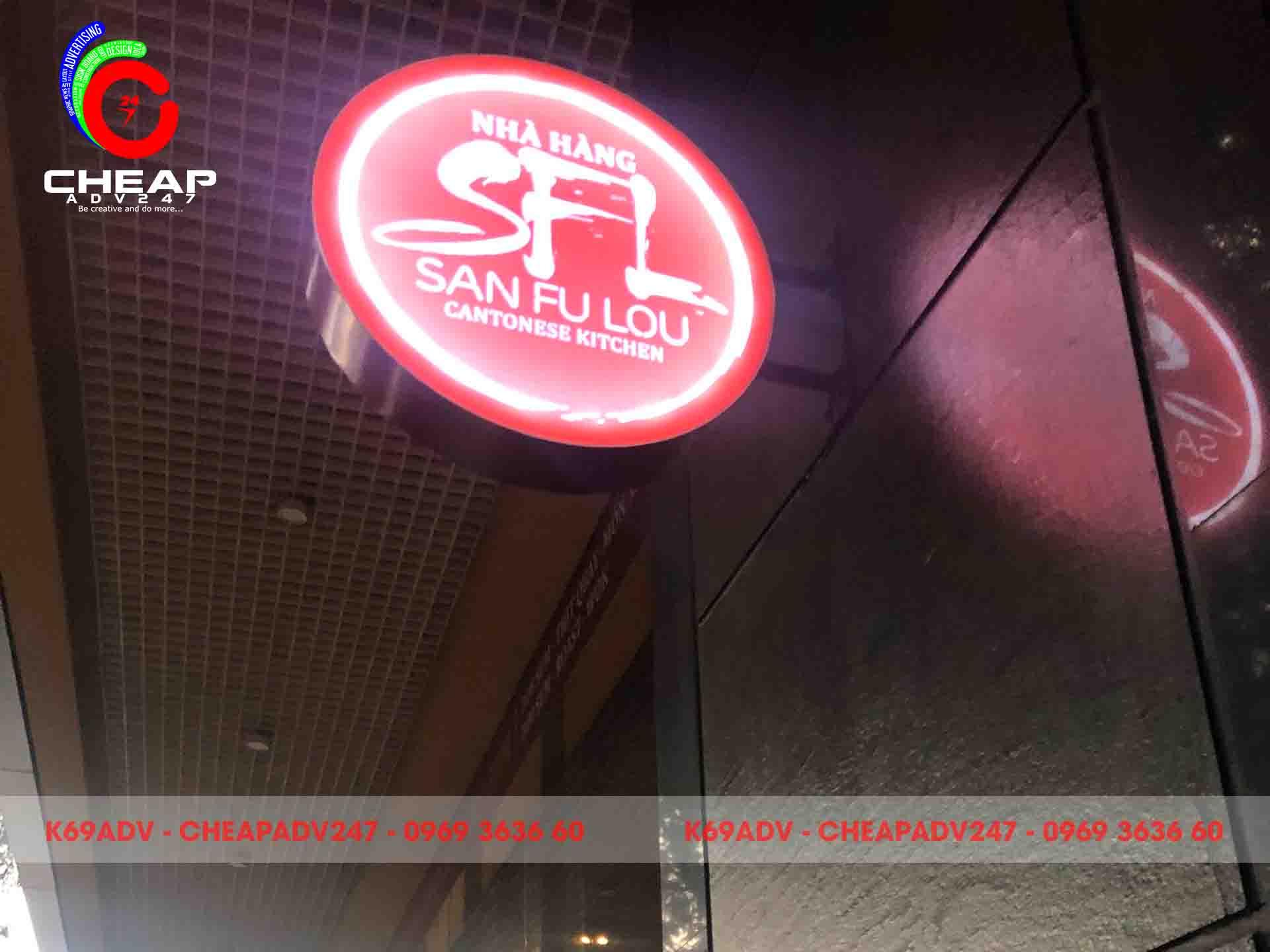 Thi công biển quảng cáo hộp đèn tại Cheapadv247