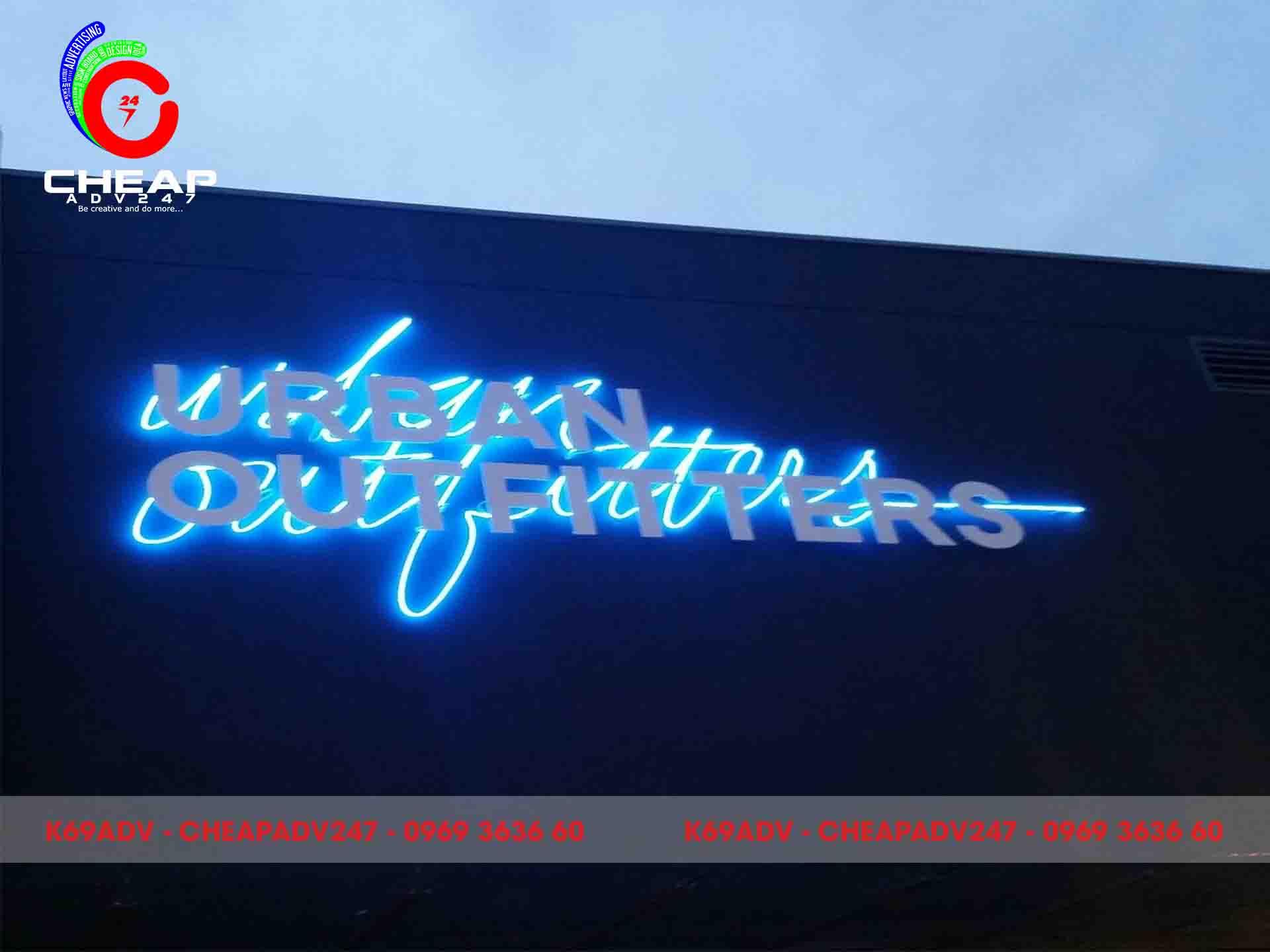 Mẫu thi công bảng hiệu quảng cáo đèn Neon Sign tại Cheapadv247