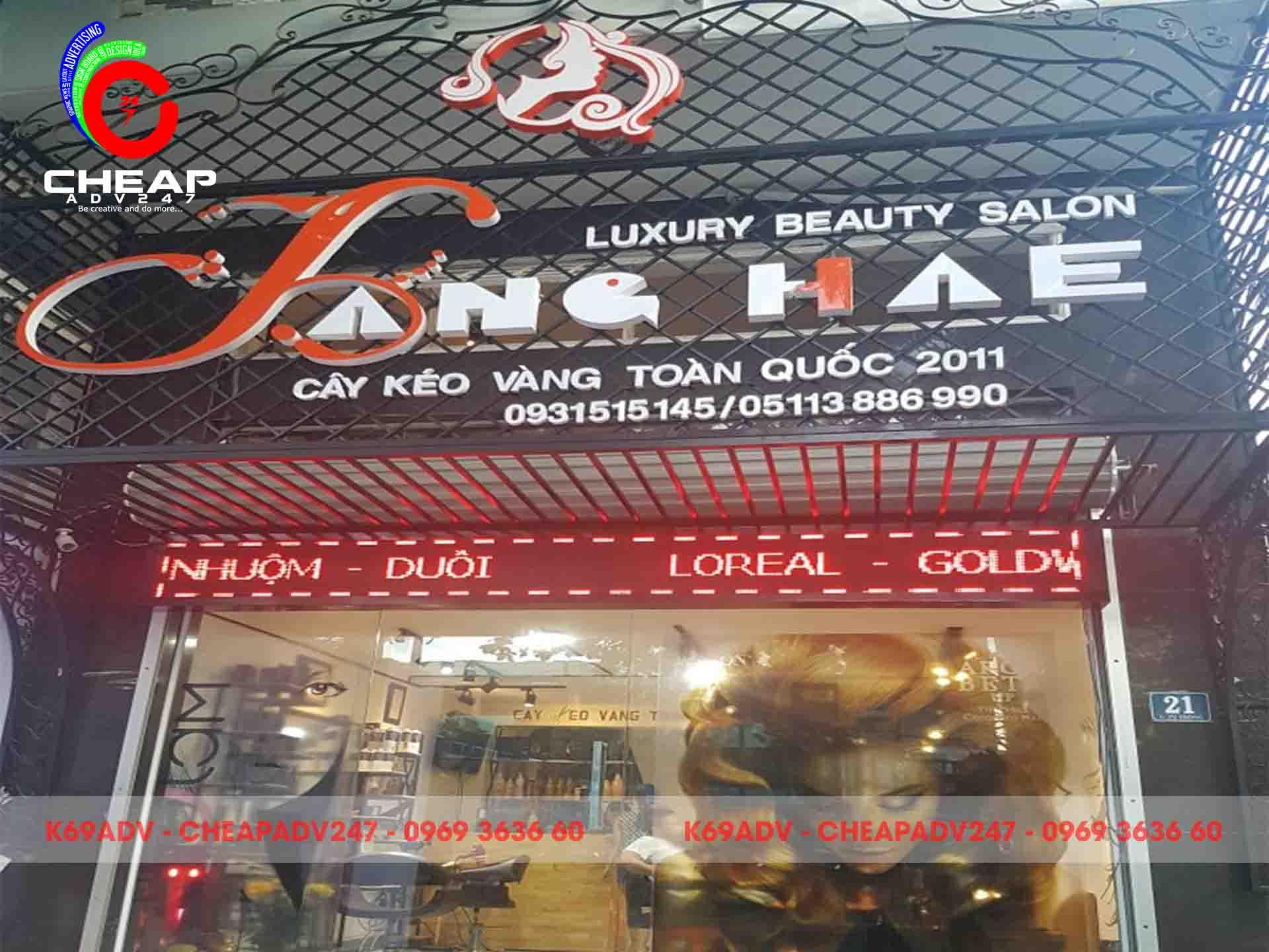 Ảnh mẫu bảng hiệu tiệm tóc của Cheapadv247