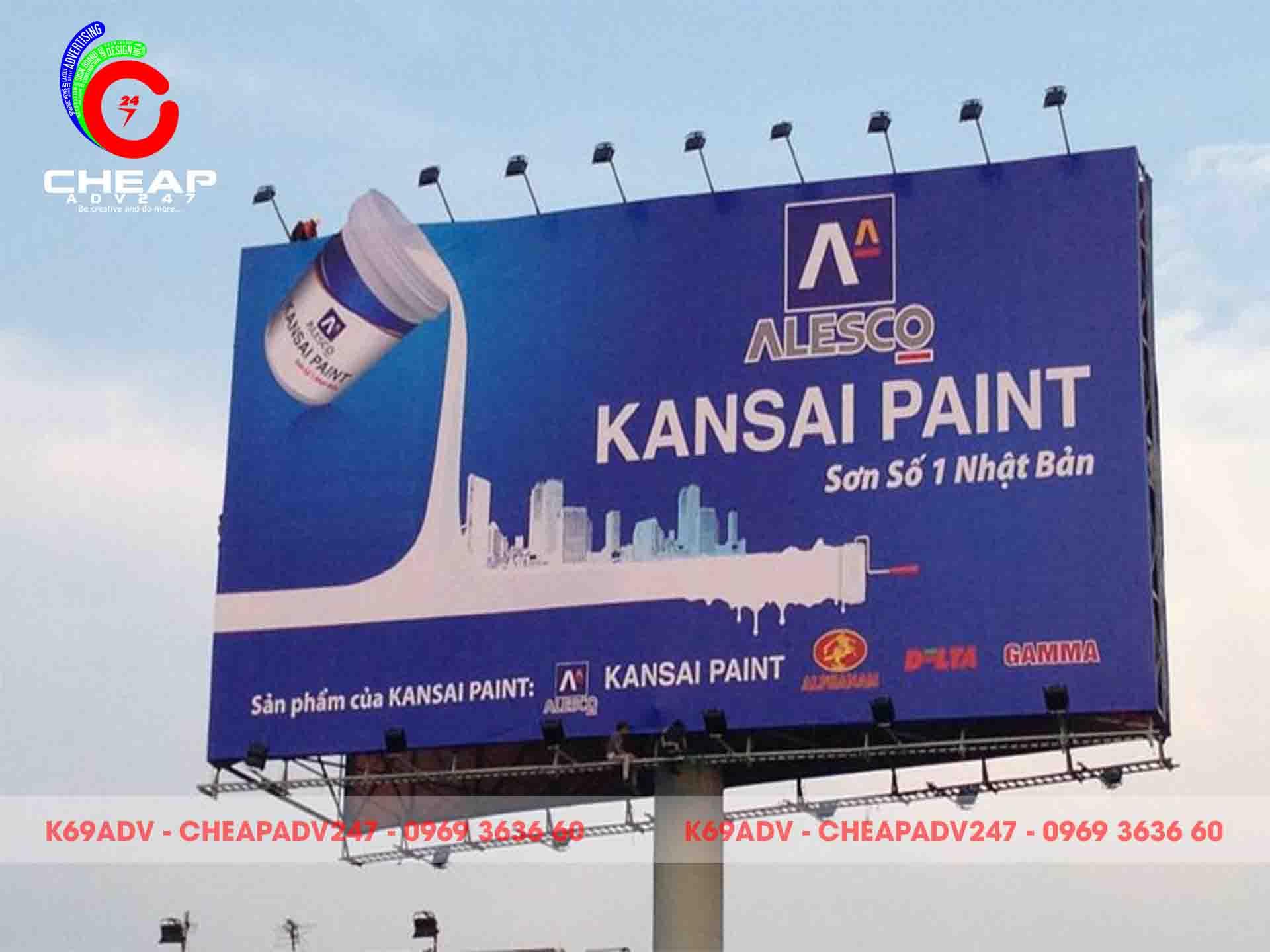 Mẫu bảng hiệu PANO ngoài trời thương hiệu KANSAI PAINT tại Cheapadv247