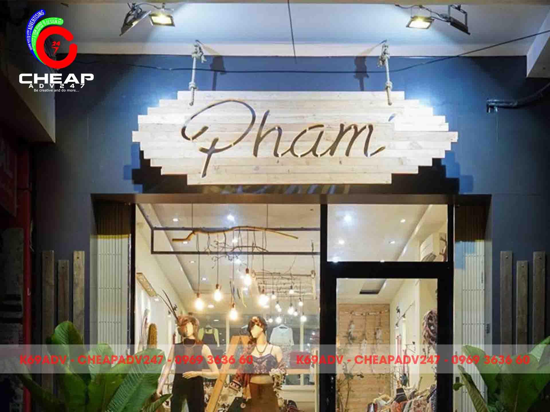Cheapadv247 chuyên làm bảng hiệu shop thời trang uy tín - chất lượng - giá rẻ