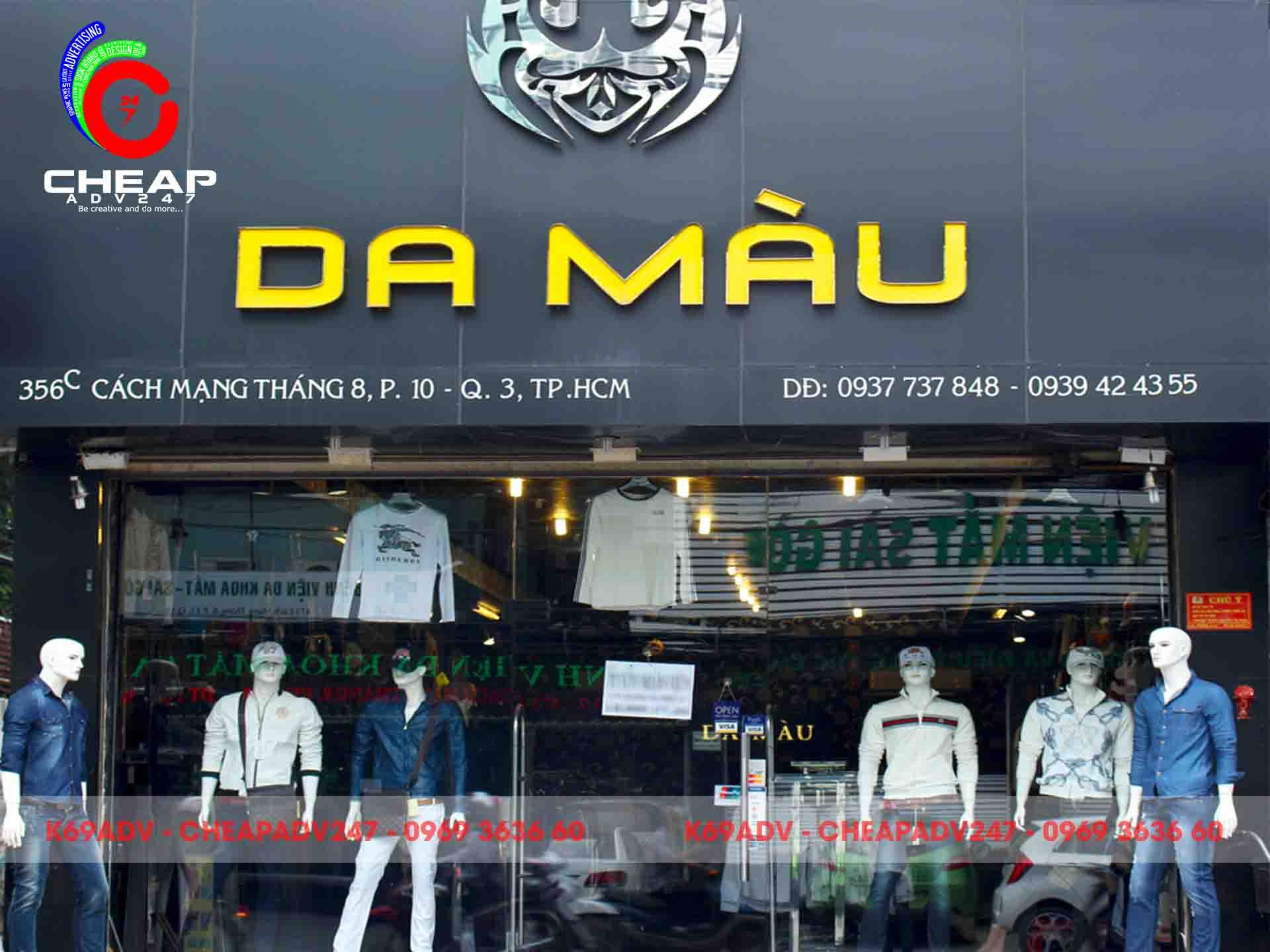 Tổng hợp các mẫu làm bảng hiệu shop thời trang đẹp nhất tại Cheapadv247