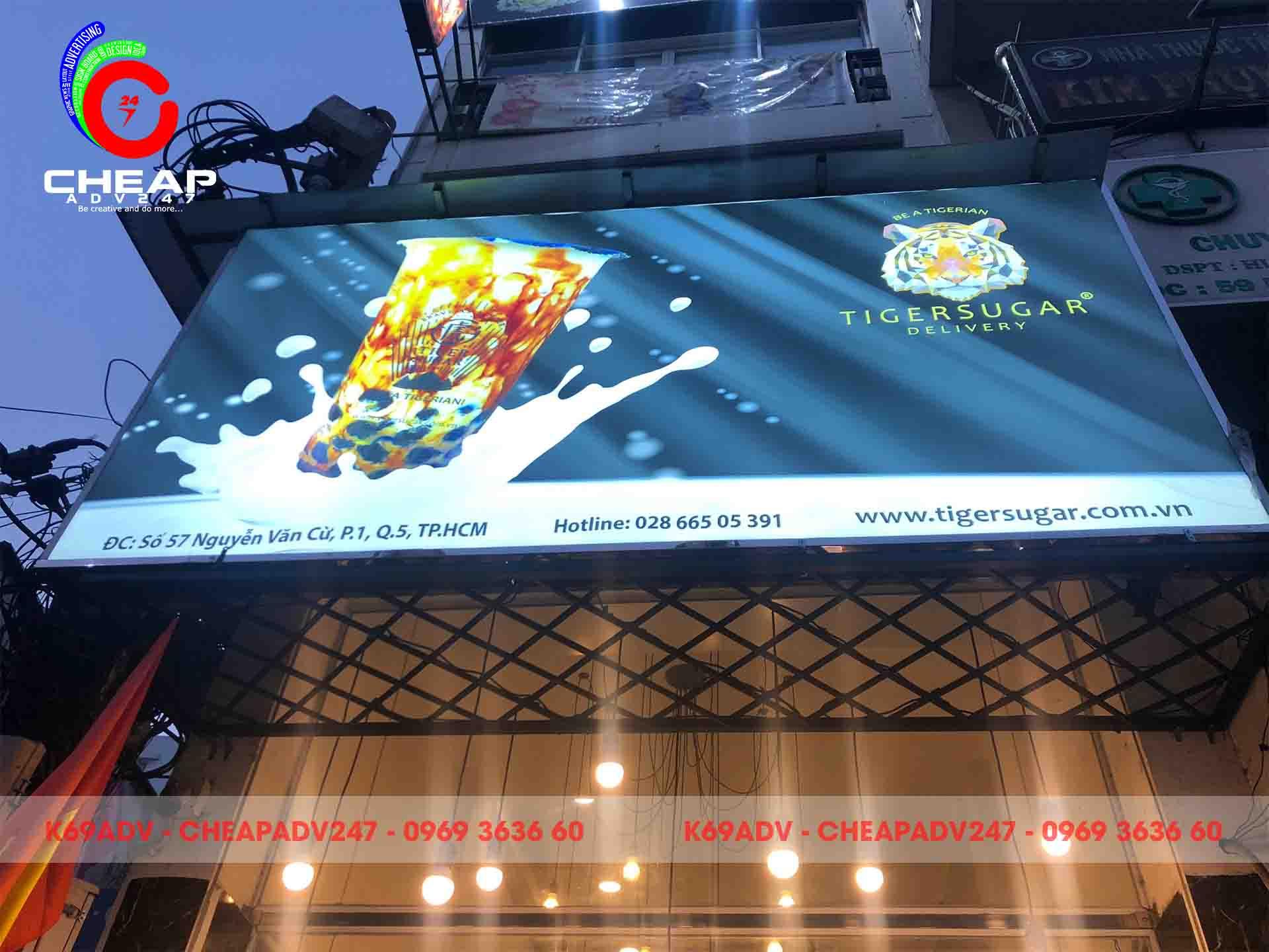Mẫu bảng hiệu PANO ngoài trời cho quán trà sữa tại Cheapadv247
