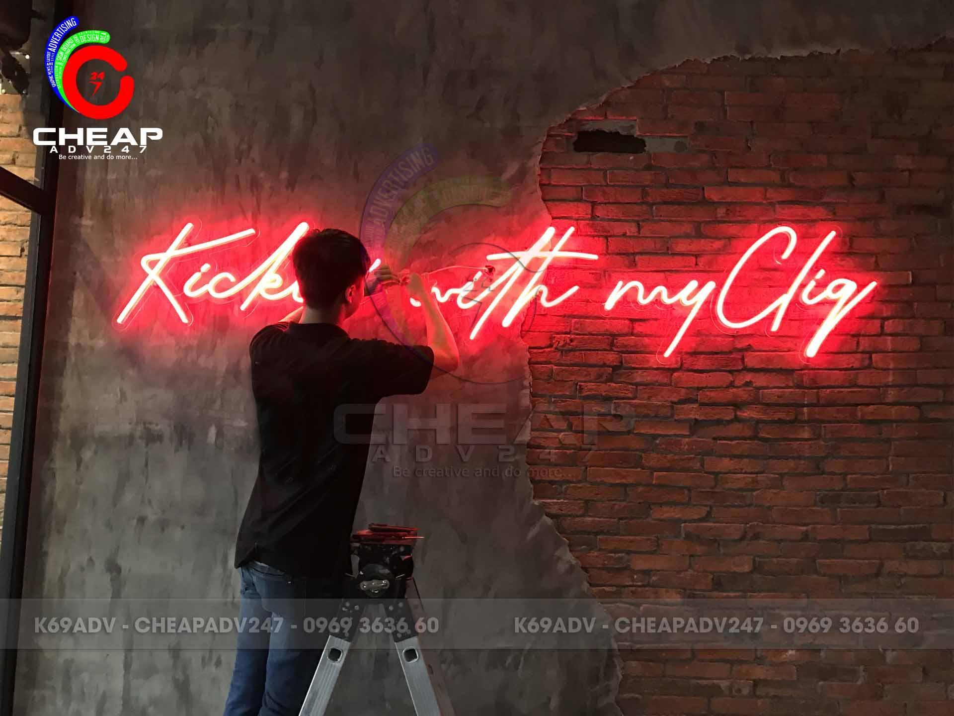 mẫu đèn neon sign quán bar quận 1
