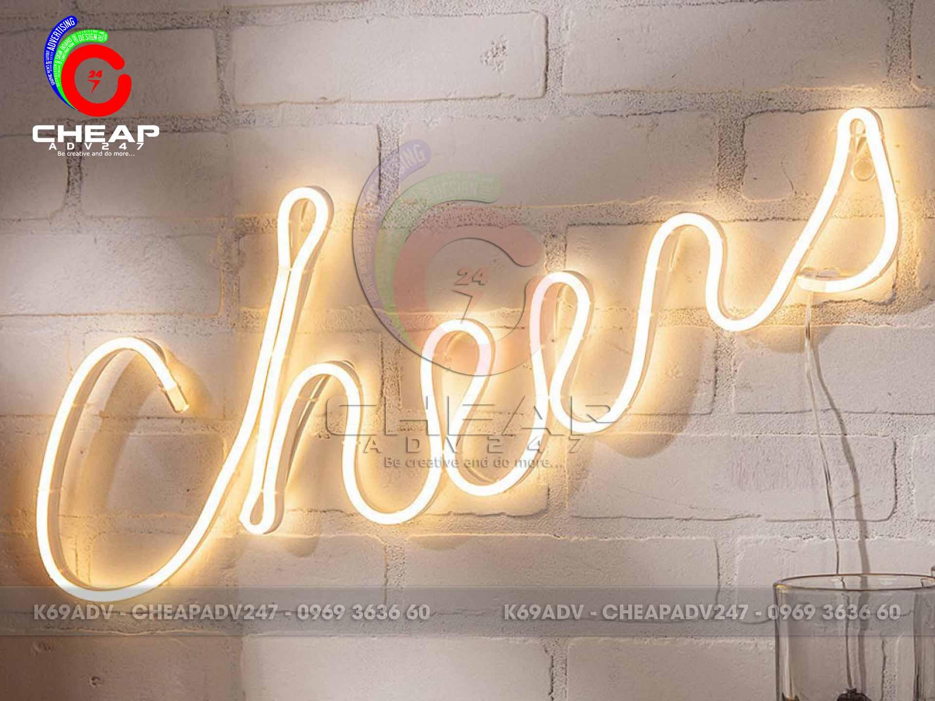 mẫu đèn neon sign đẹp