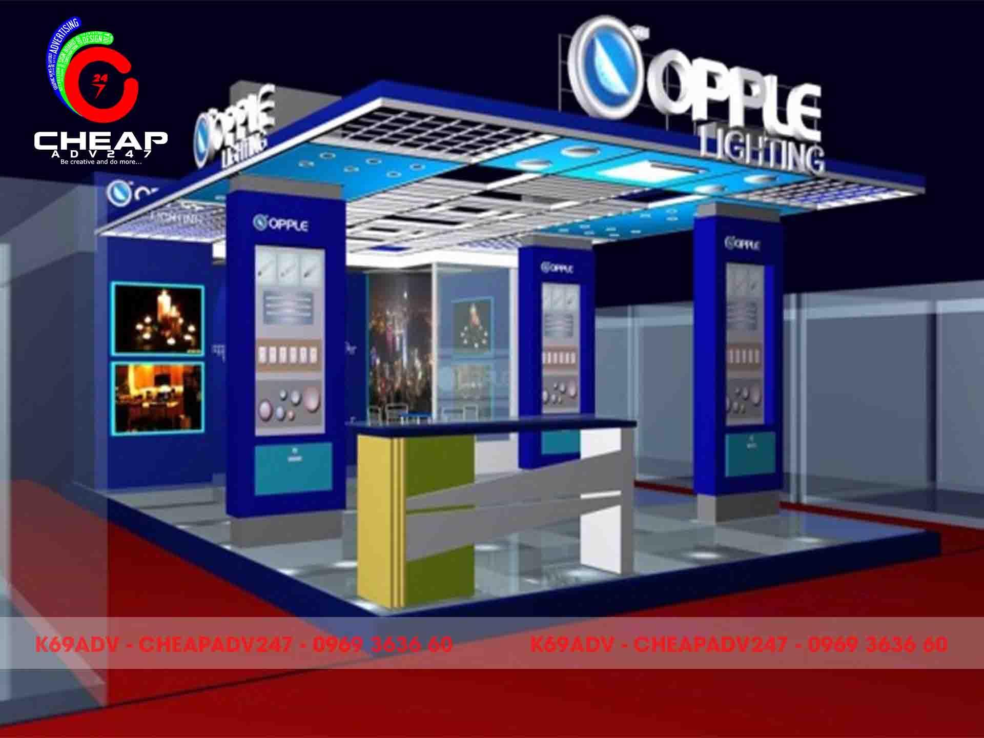 Thiết kế thi công gian hàng triển lãm tại Cheapadv247