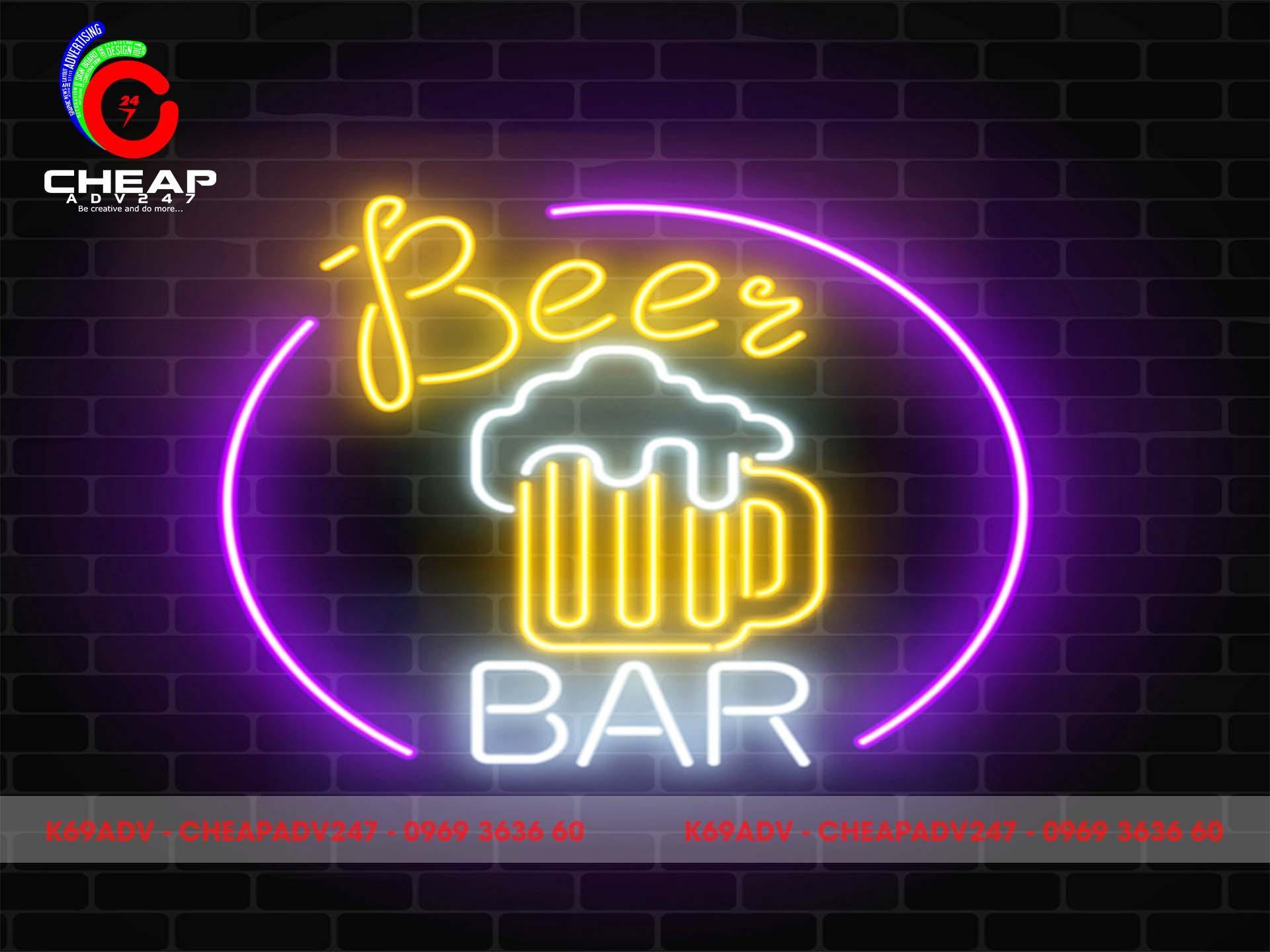Làm bảng hiệu quán Bar